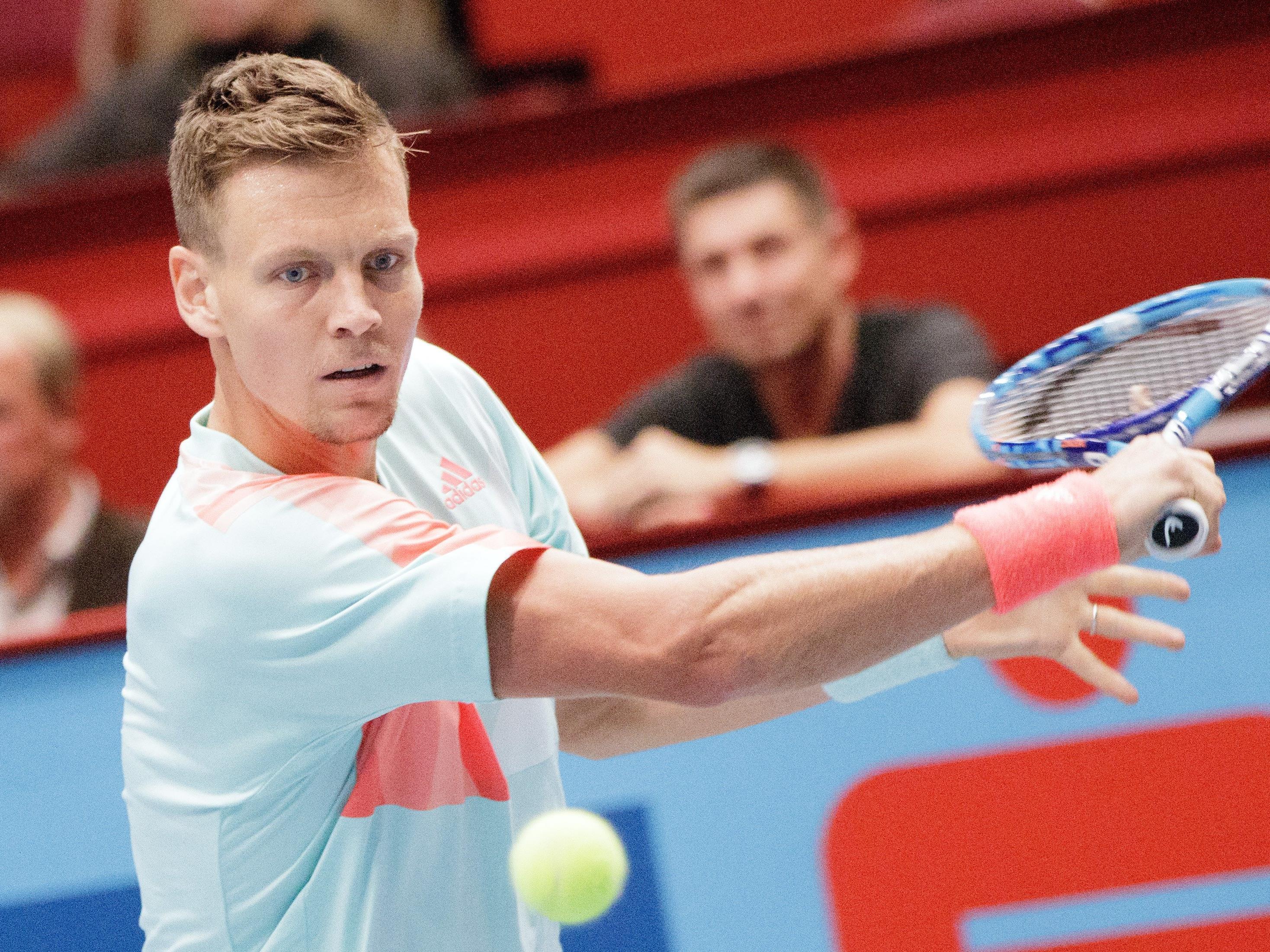 Berdych flog bereits in der 1. Runde aus dem Wiener Tennis Turnier.