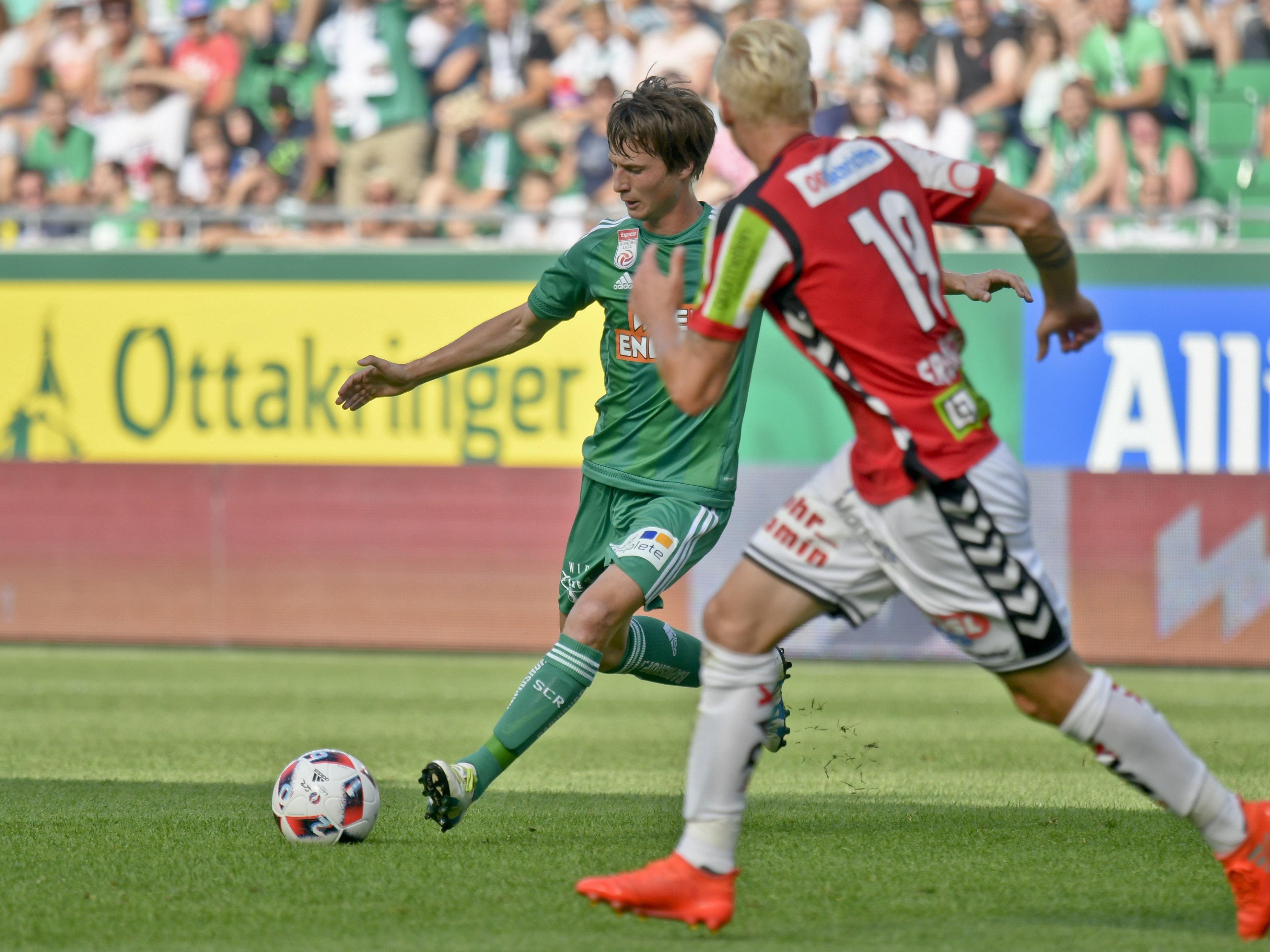 Rapid Wien trifft am Sonntag auf die SV Ried.
