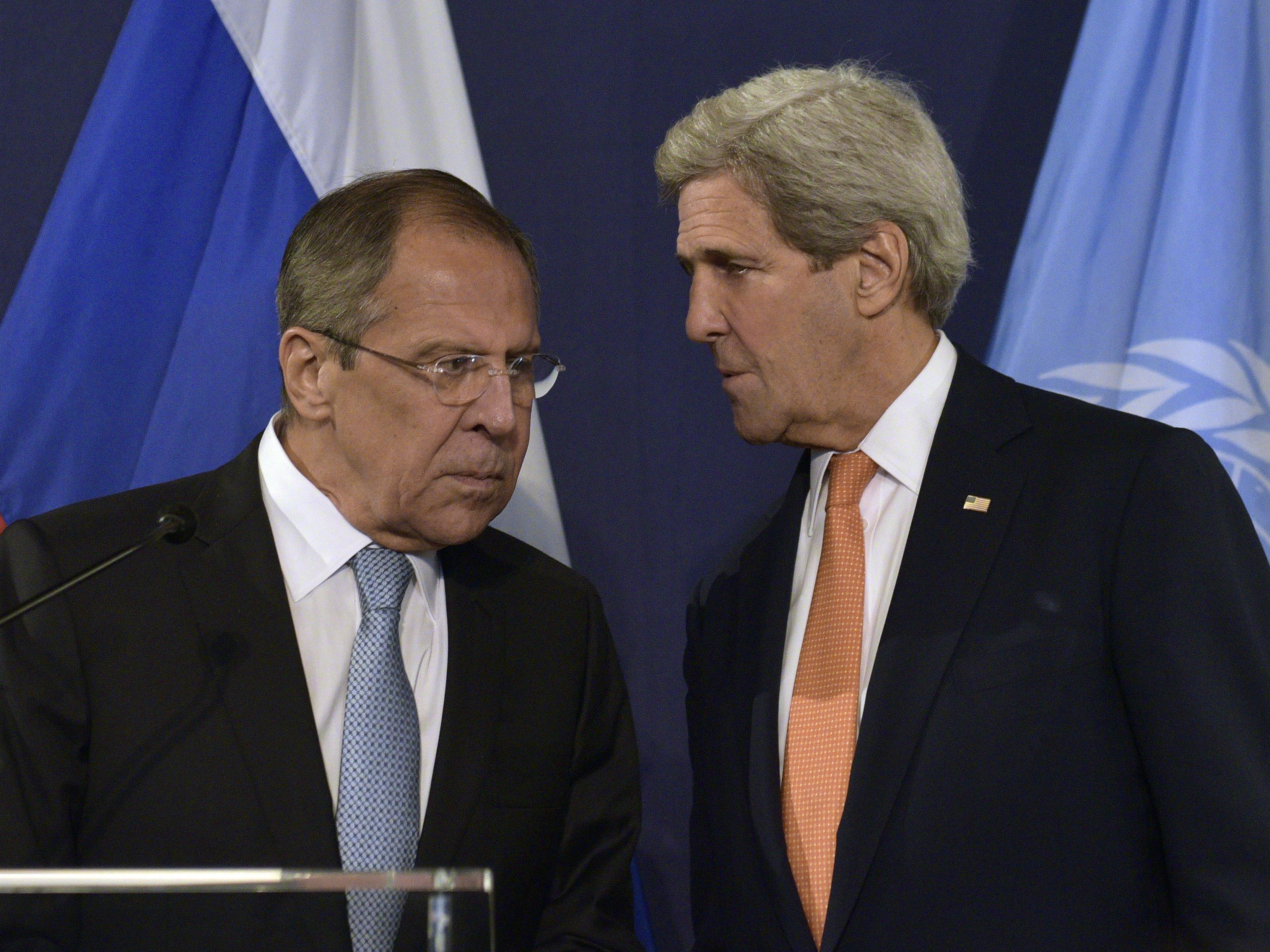 Sergej Lawrow und John Kerry wollen wieder über die Friedensbemühungen im Syrien-Konflikt beraten.