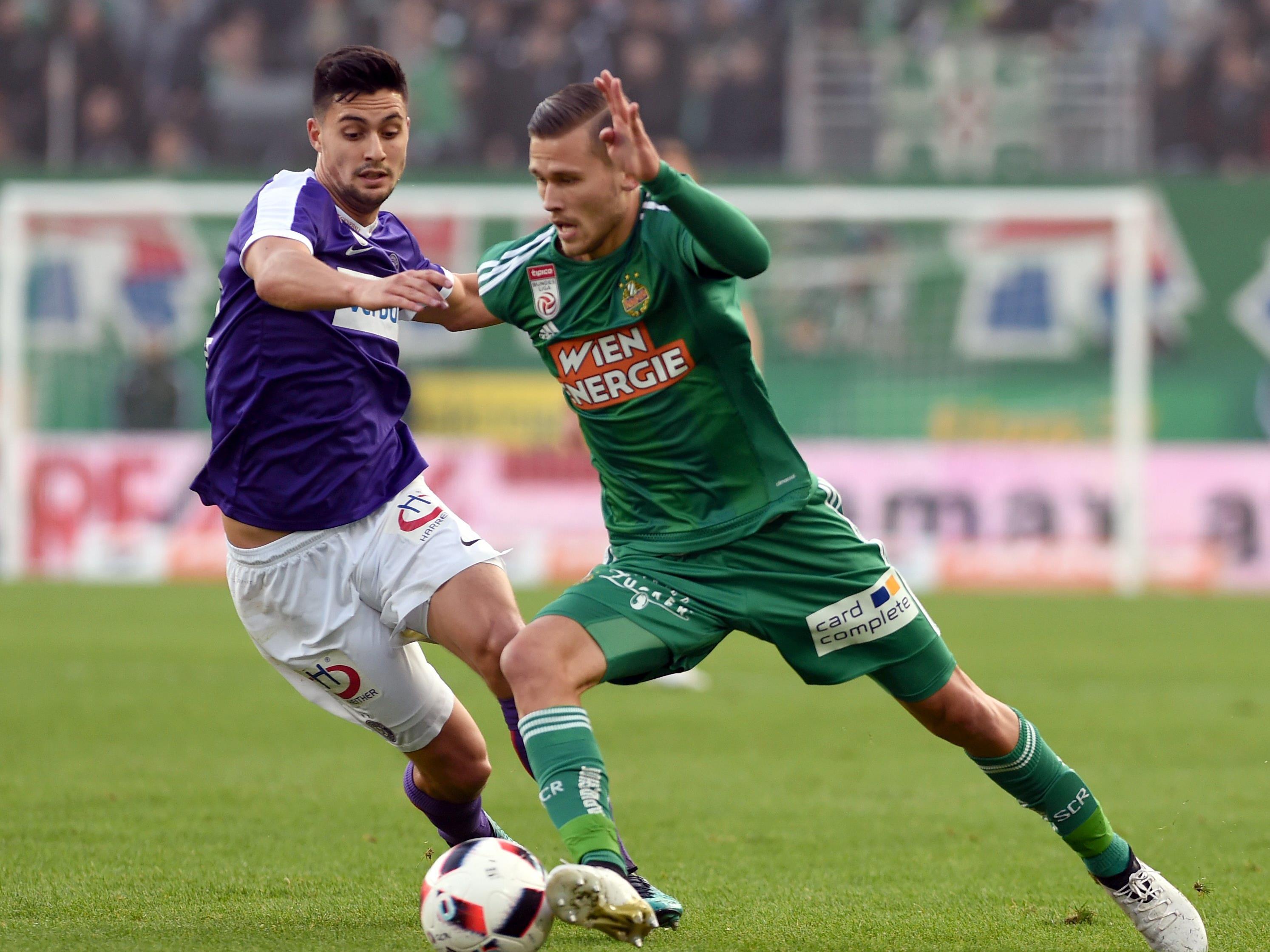 Die Austria behielt im ersten Derby im neuen Allianz-Stadion gegen Rapid die Oberhand.