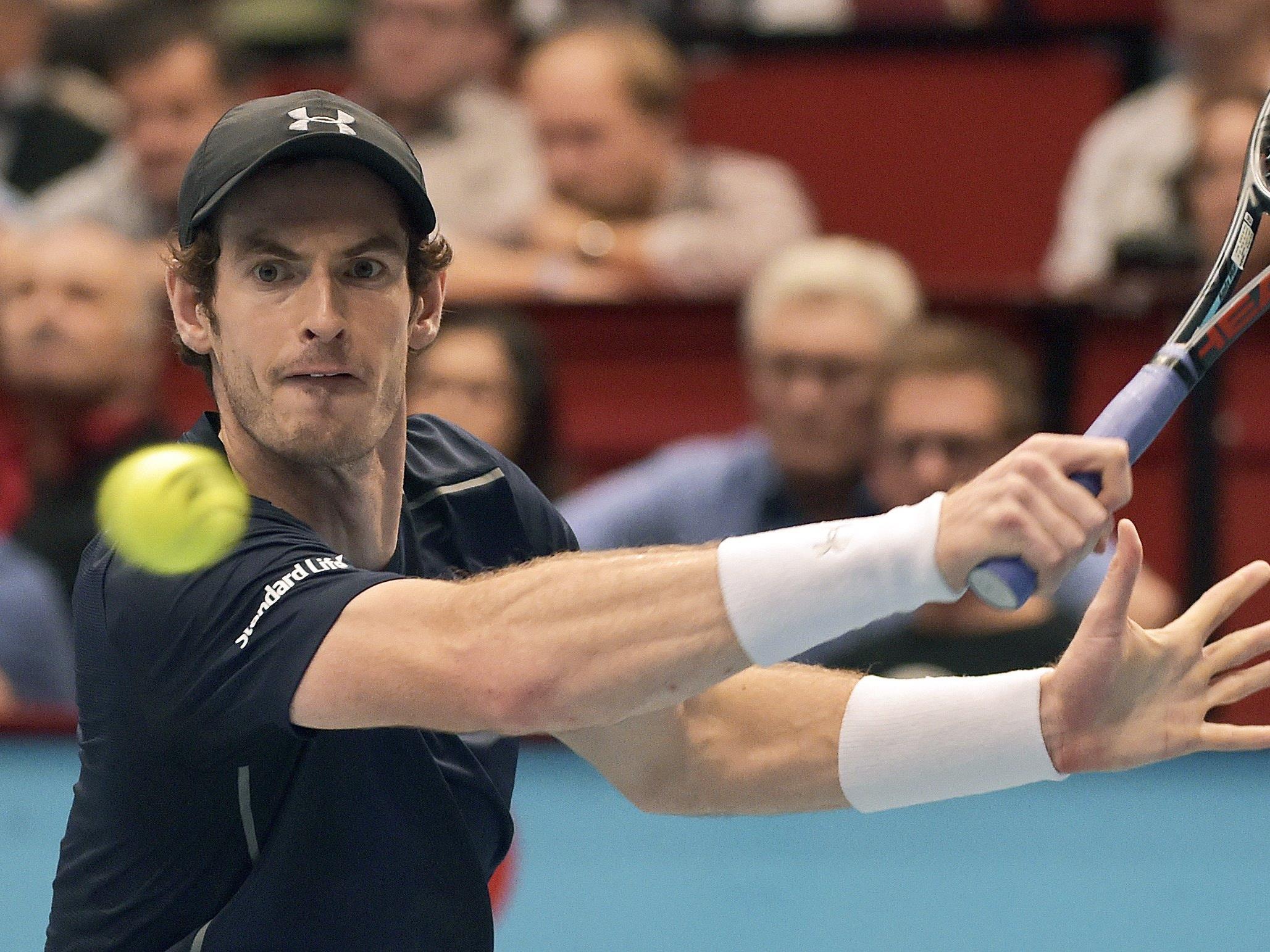 Andy Murray schafft den Sprung ins Wien-Achtelfinale.