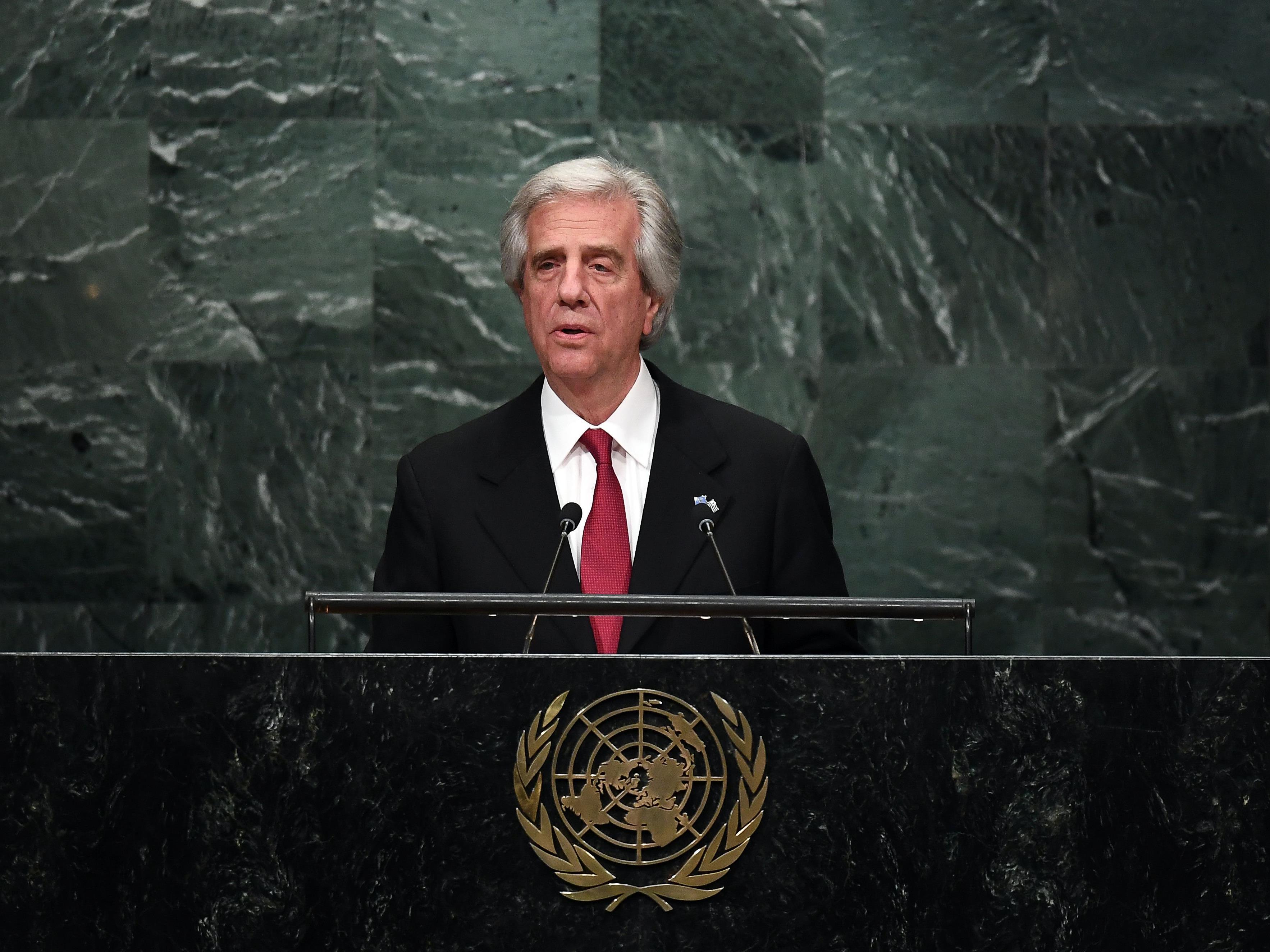 Der Präsident von Uruguay Tabare Vazquez wird zum Thema Tabakkontrolle sprechen.