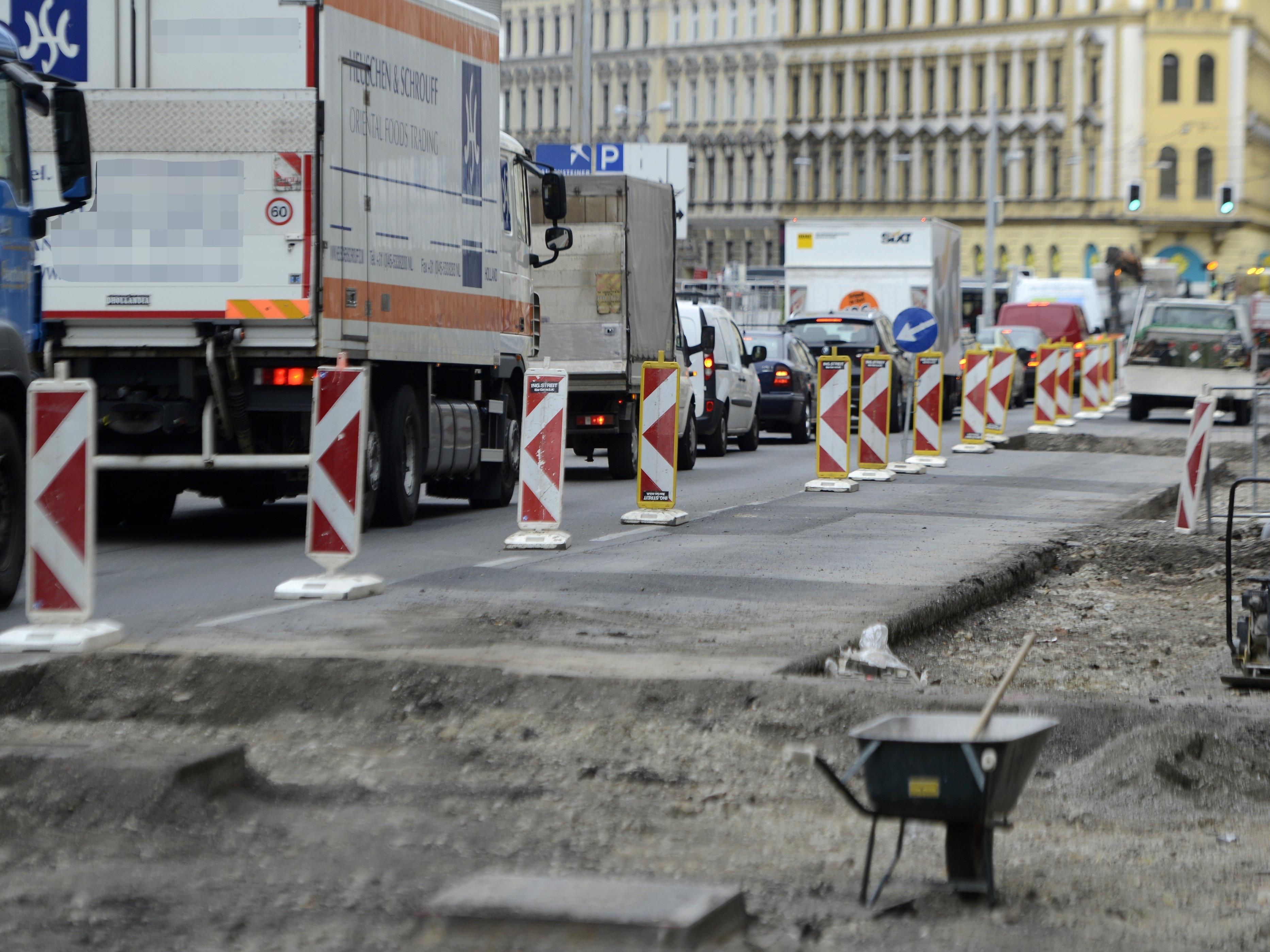 Baustellenstart in fünf Wiener Bezirken Anfang nächster Woche.