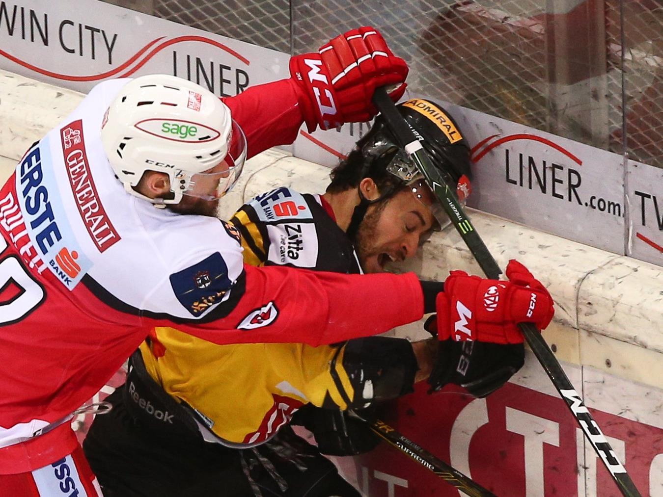 Hartes Spiel in der EBEL: Vienna Capitals setzen sich gegen den KAC durch.