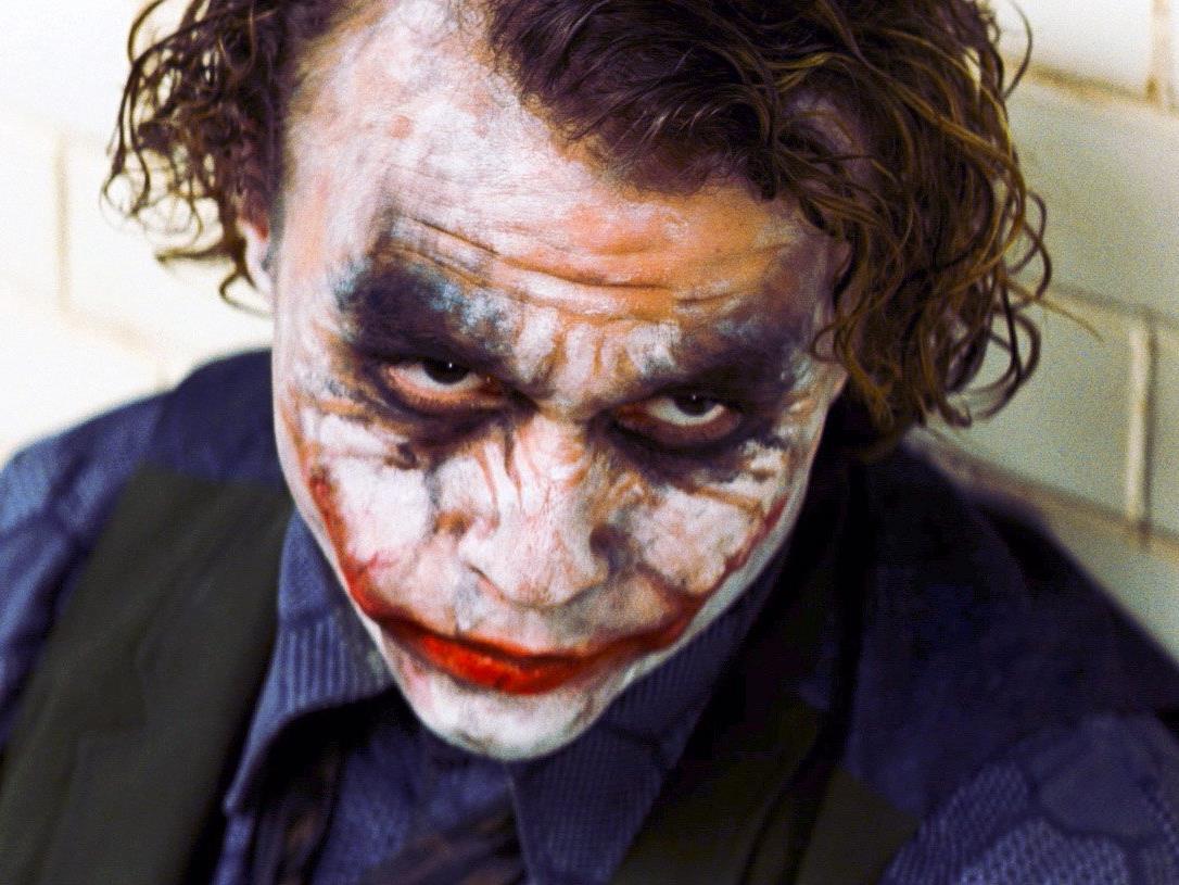 """Heath Ledger in der Rolle des """"Jokers""""."""