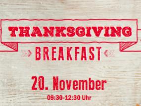 Einen Tisch beim Thanksgiving Breakfast im TGI Fridays gewinnen.