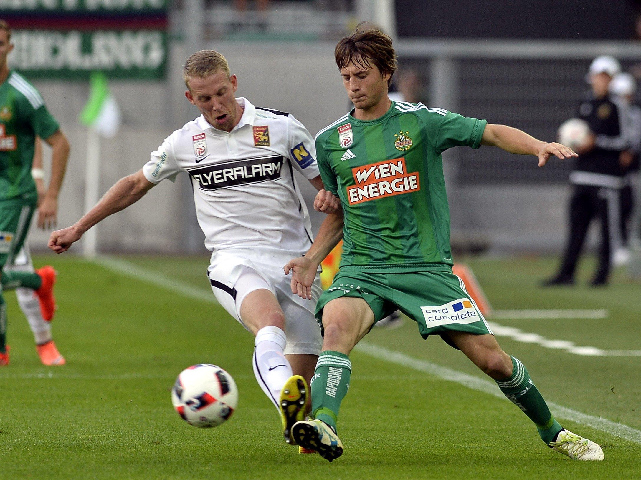 Rapid gastiert zum Auftakt der 13. Bundesligarunde bei der Admira.