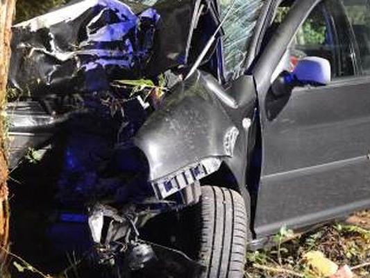 Der Unfallwagen in Hernals