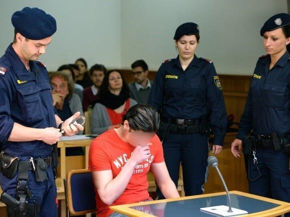 Der Angeklagte beim Prozess in Wien.