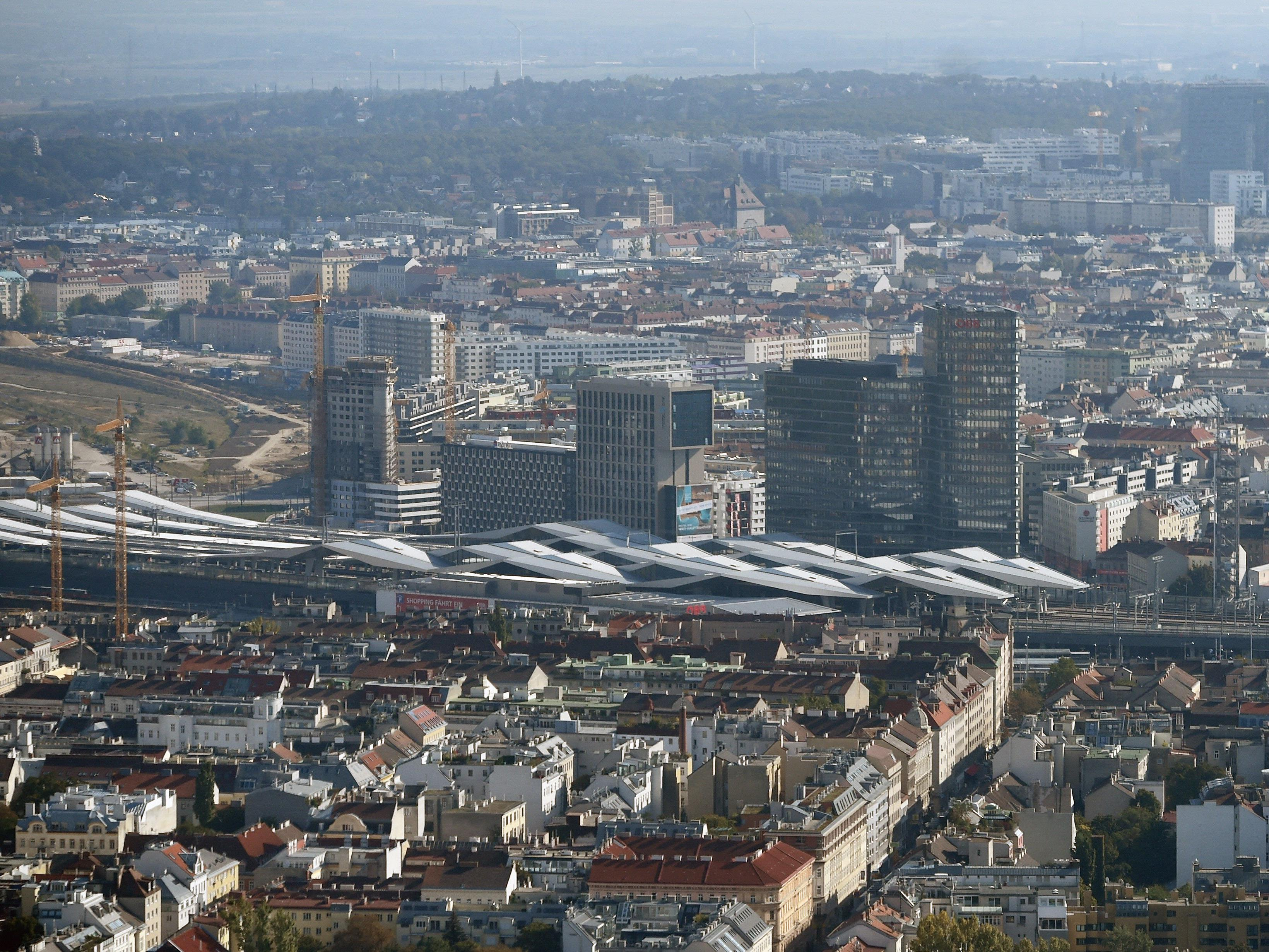 Umfrage stellt Wohnen beim Wiener Hauptbahnhof ein gutes Zeugnis aus