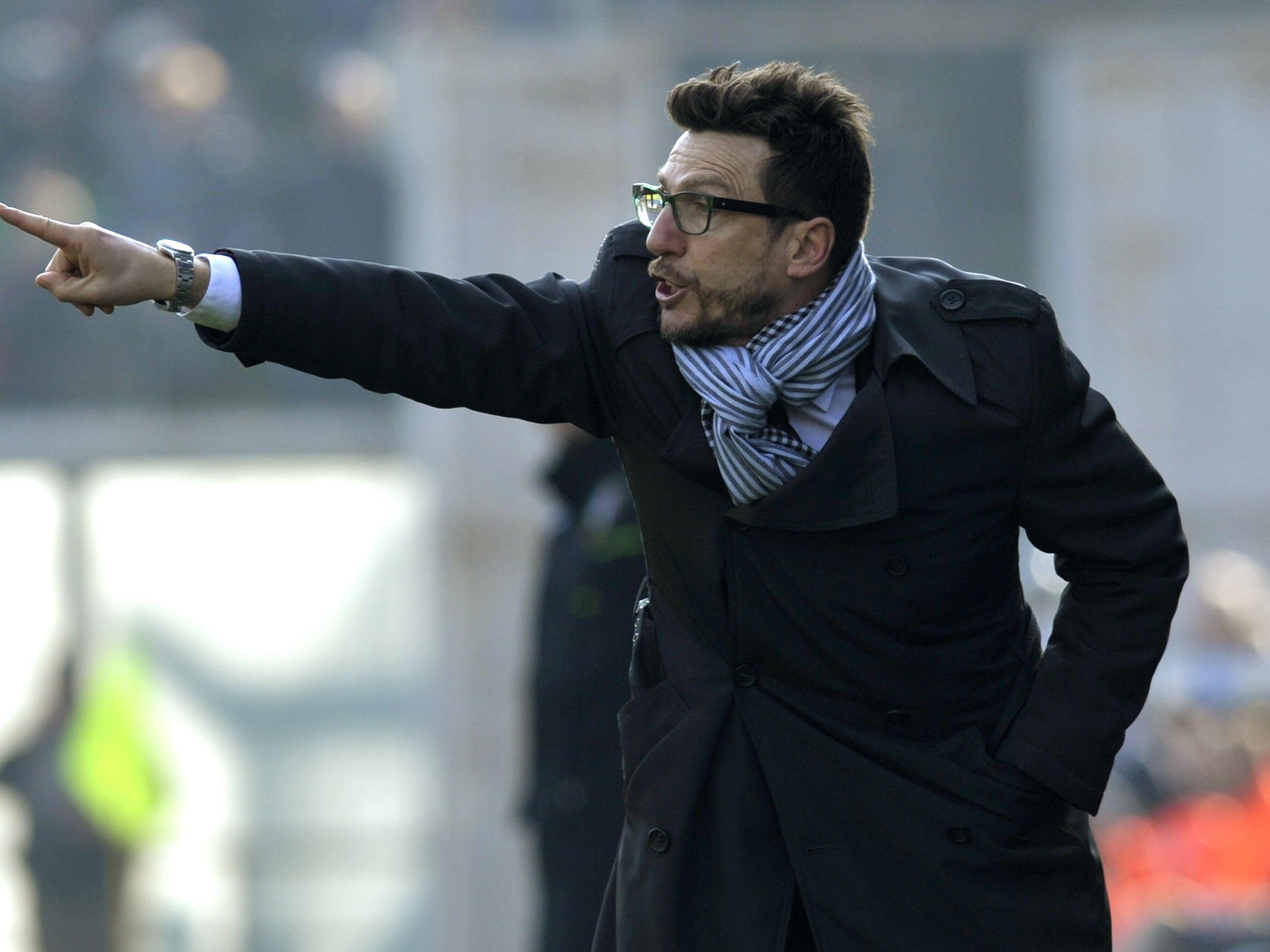 Sassuolo-Trainer Eusebio di Francesco gastiert mit seinen Schützlingen im Allianz-Stadion.