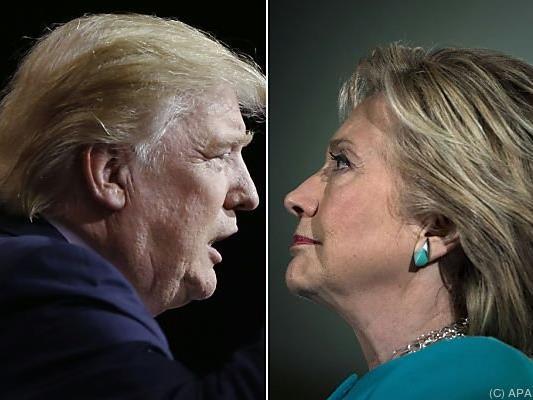 Donald Trump gegen Hillary Clinton