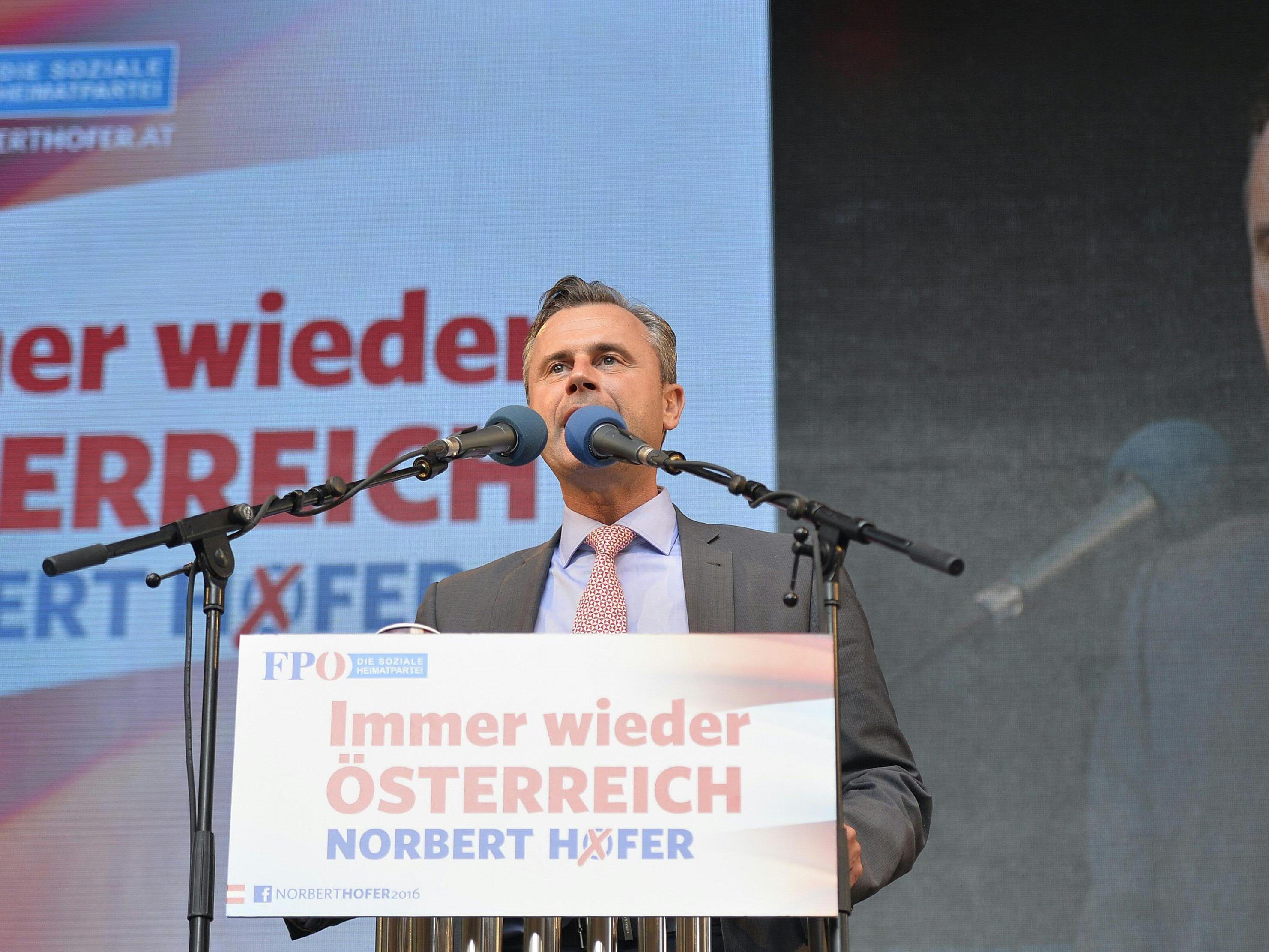Norbert Hofer wird sein Wahlkampf-Finale in der Wiener Börse abhalten.