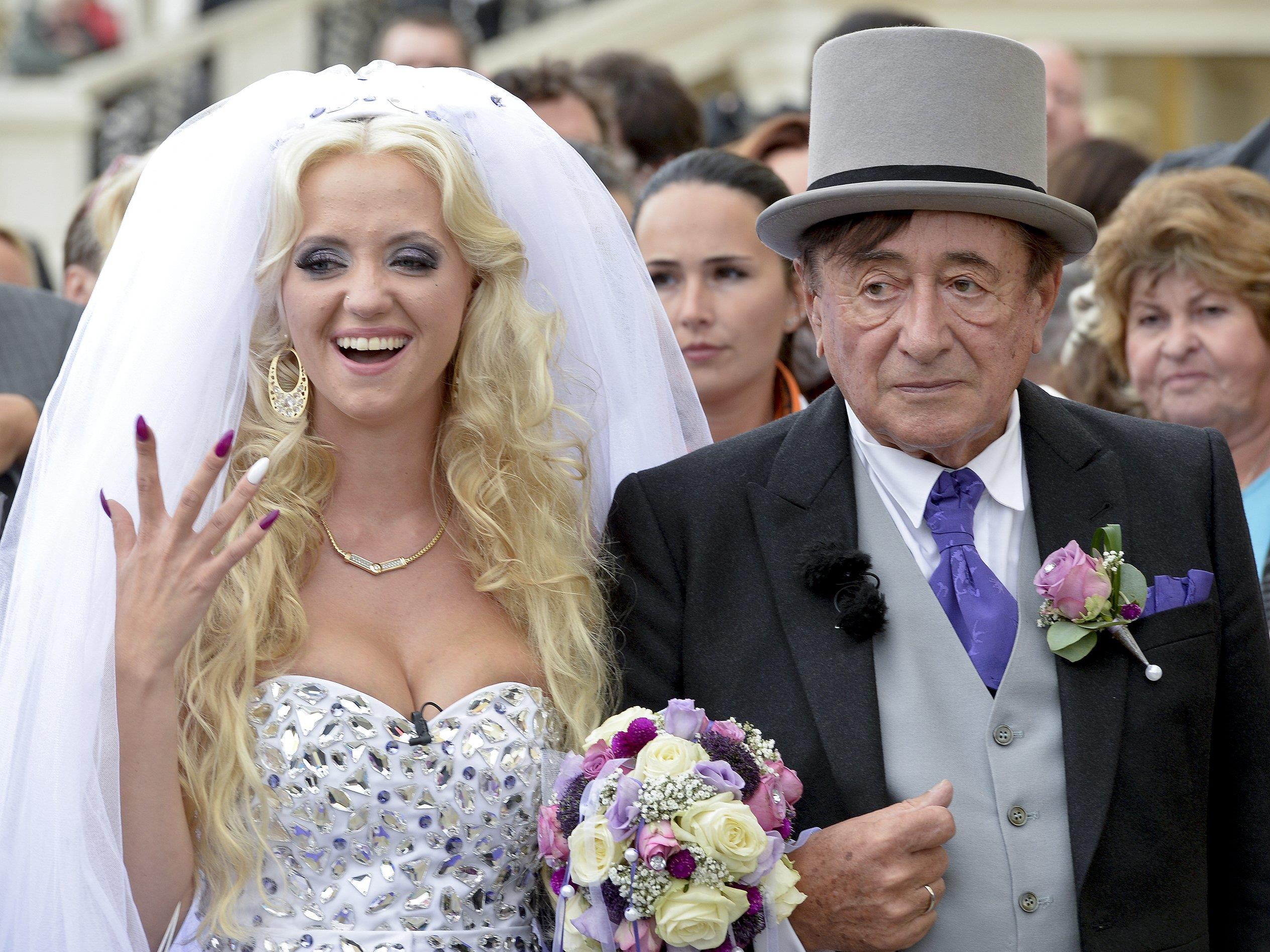 Cathy und Richard Lugner bei ihrer Hochzeit.