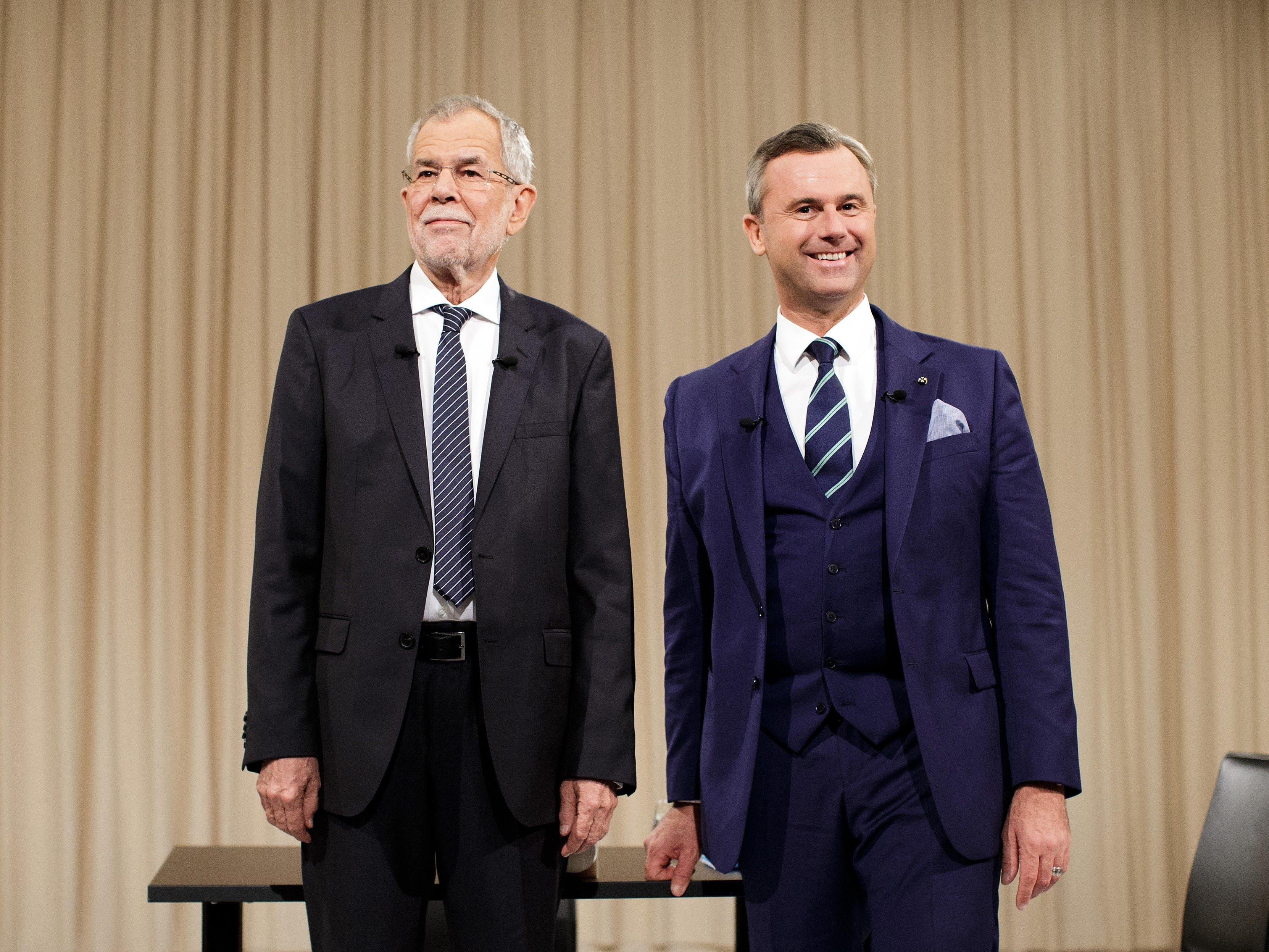 """Die Kandidaten bei der ATV-Diskussion """"Meine Wahl - Das Duell"""" in Wien"""