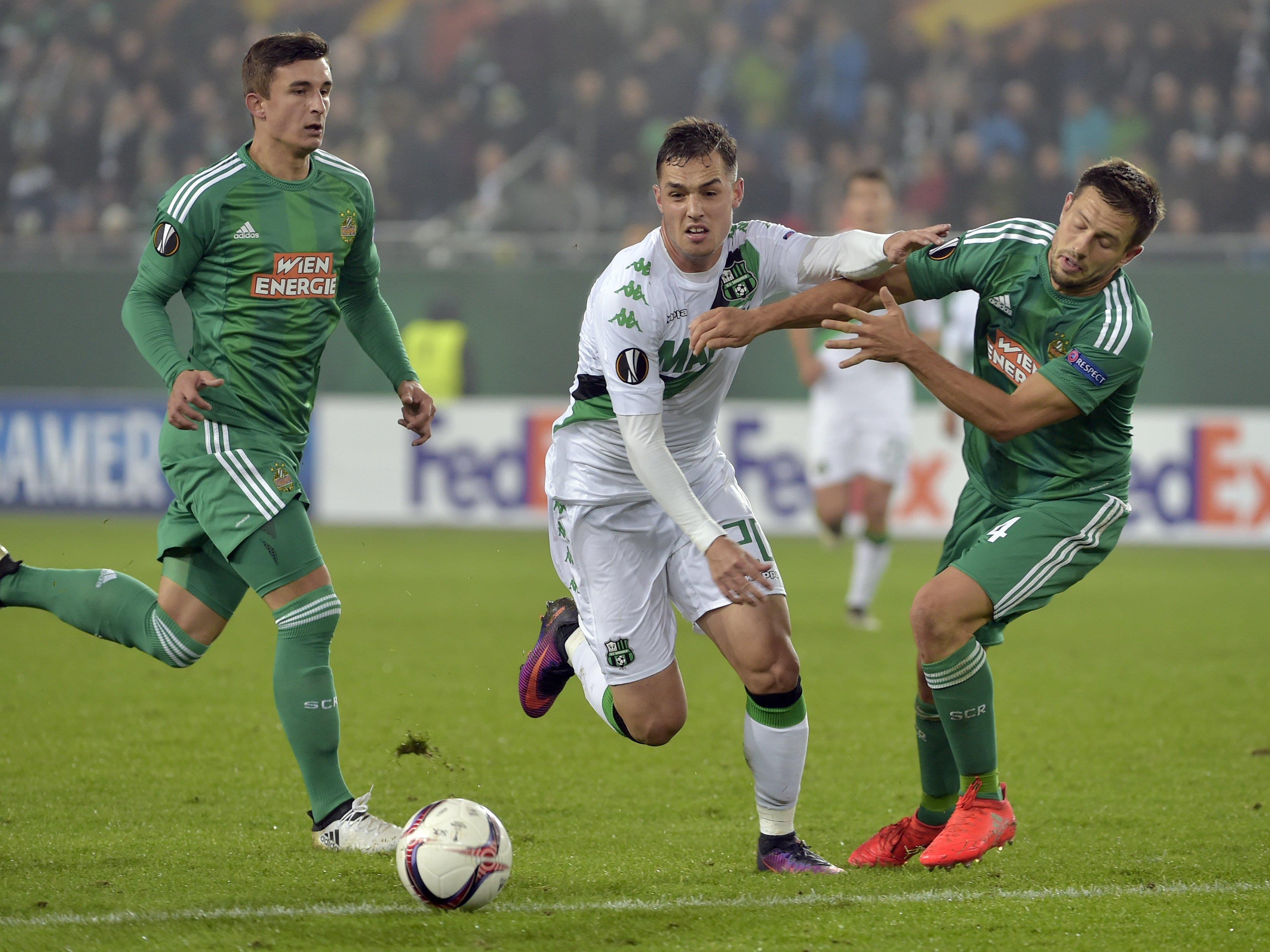 Am Donnerstag geht es für Rapid Wien gegen Sassuolo um wichtige Punkte.