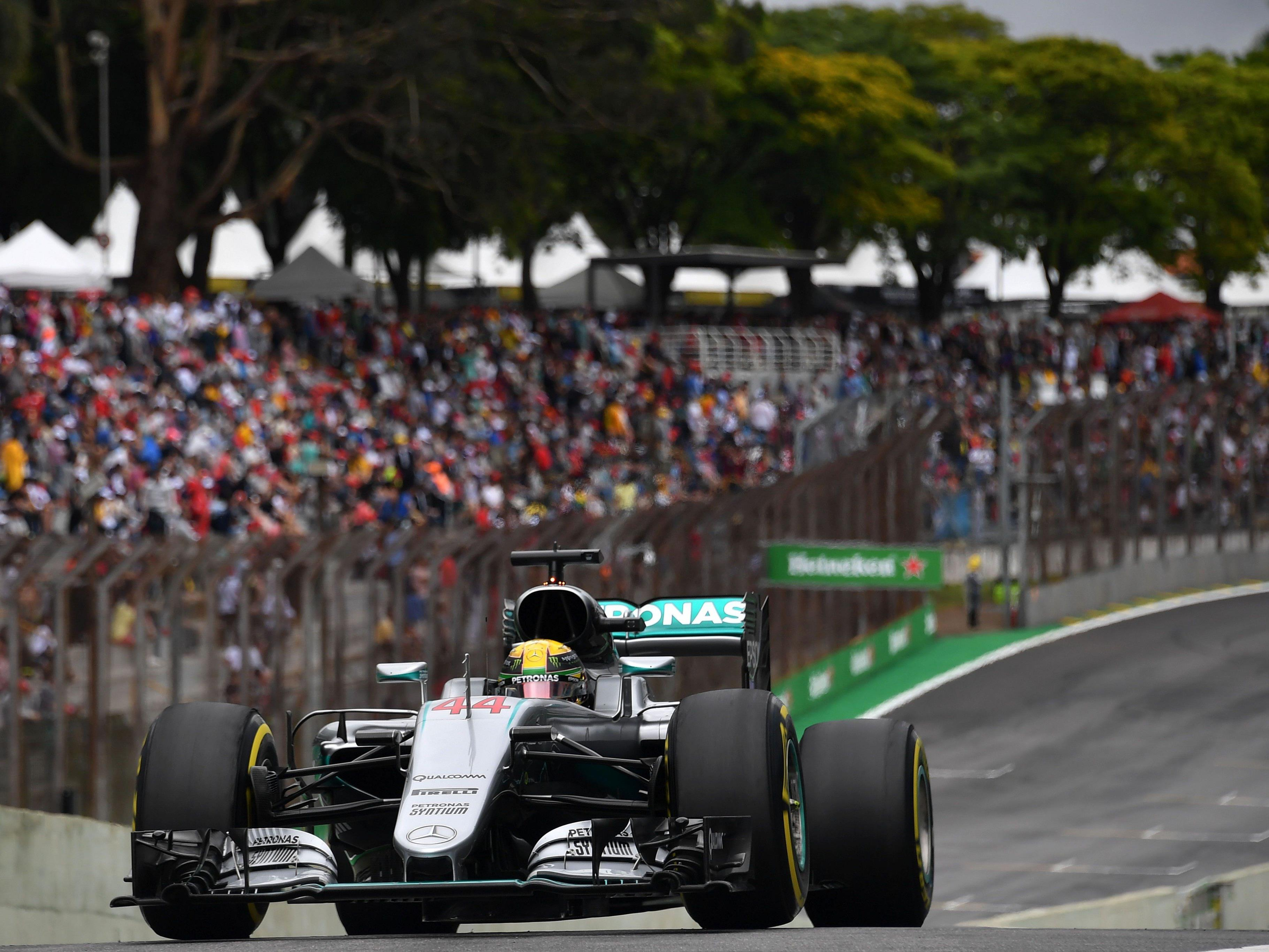 Hamilton holte sich die Pole Position für den Grand Prix von Brasilien.