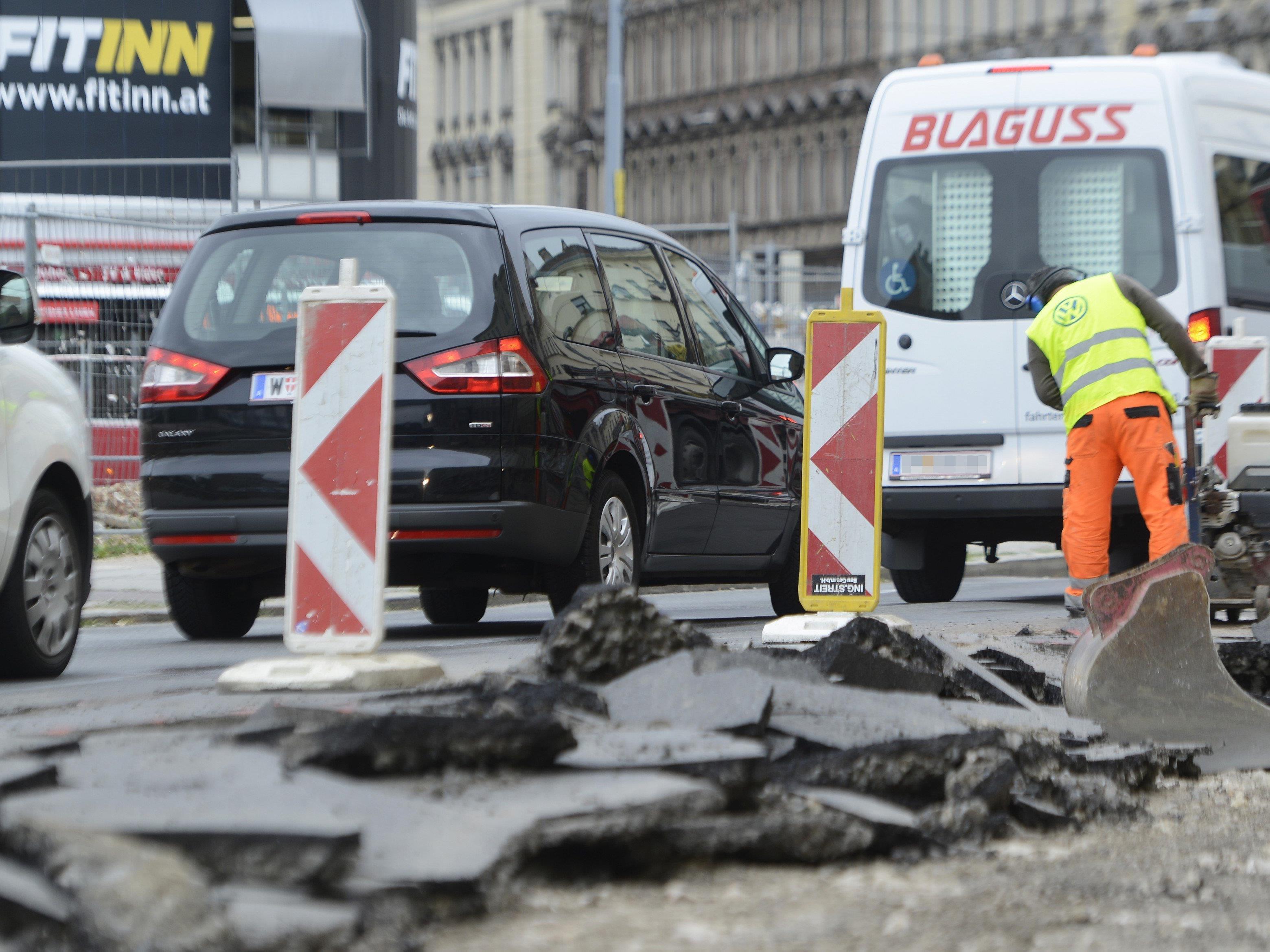 Ab kommender Woche eröffnen neue Baustellen in drei Wiener Bezirken