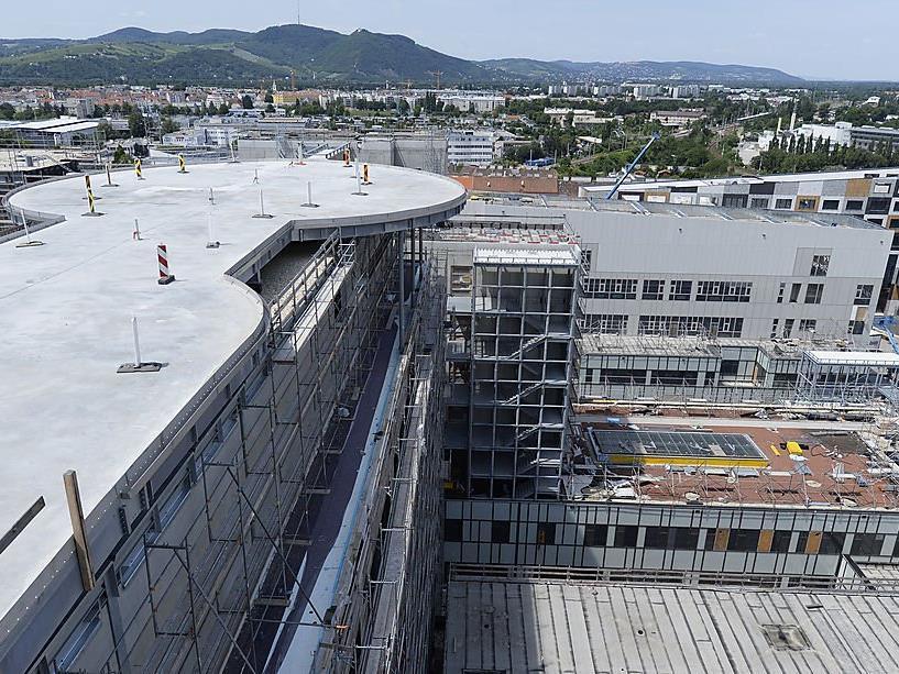 Baustelle des Krankenhauses Wien-Nord.