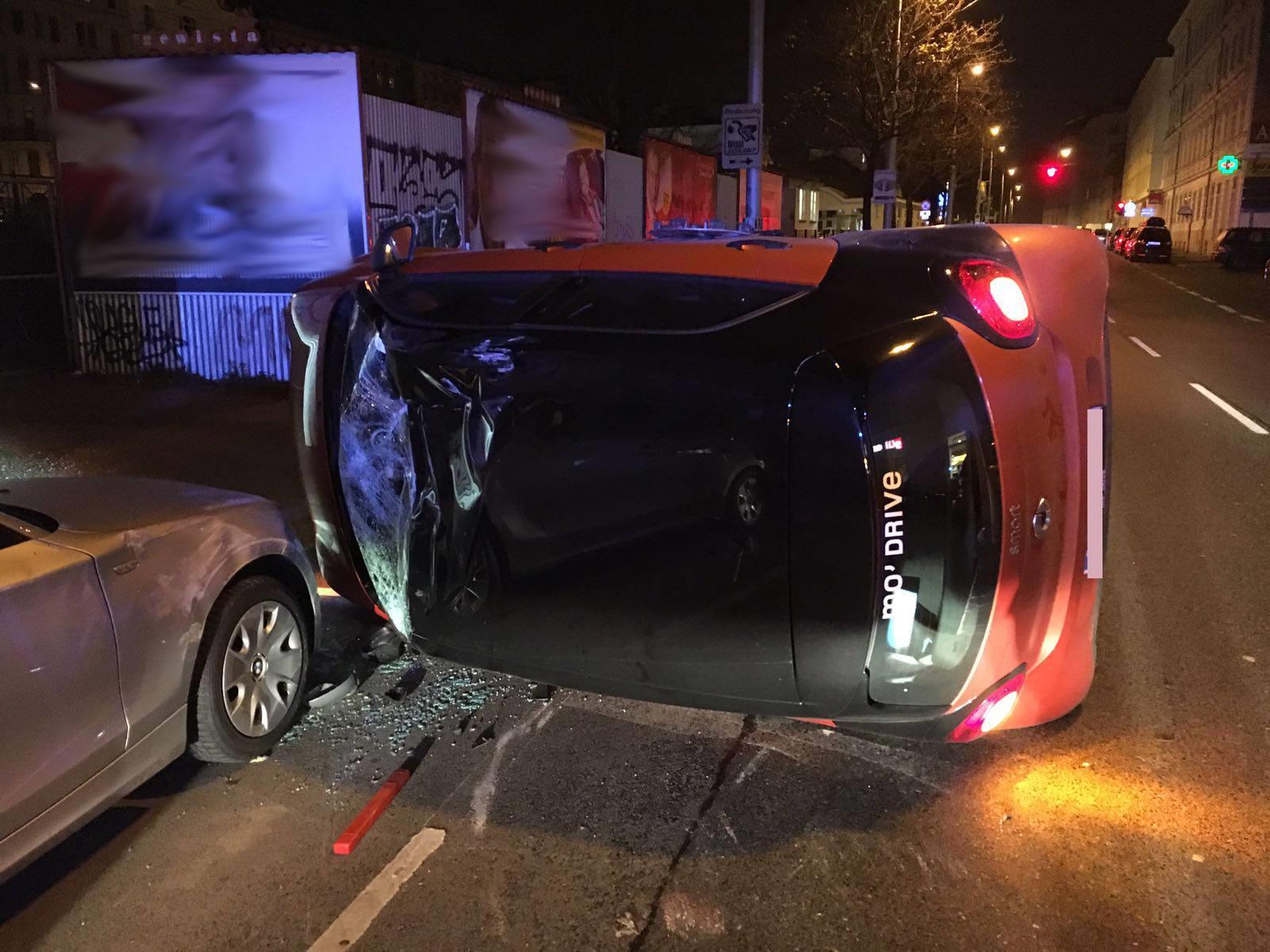 Der verunfallte Autofahrer hatte Glück im Unglück.