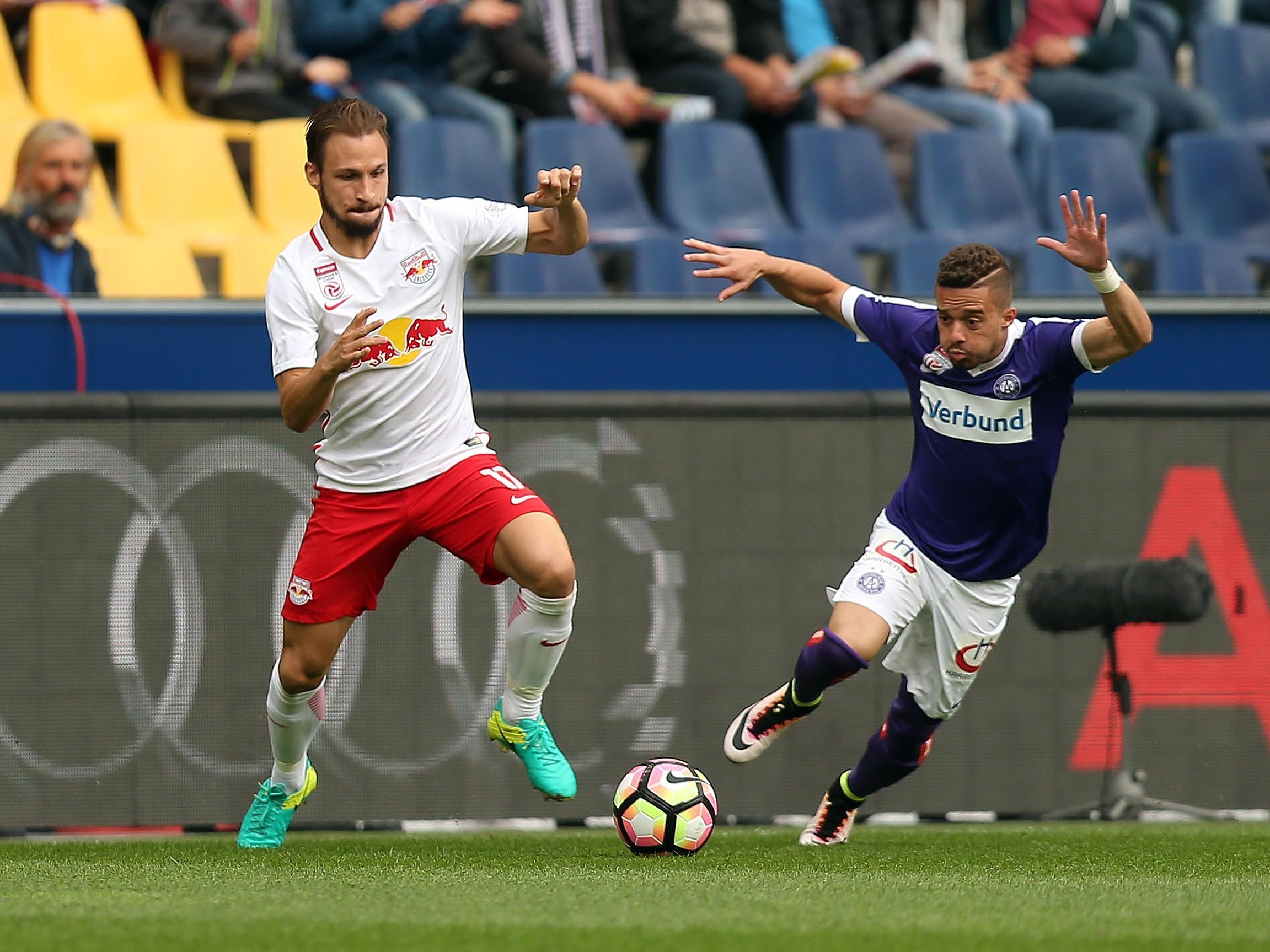 Austria Wien vs. Red Bull Salzburg lautet der Schlager späten Mittwochabend.