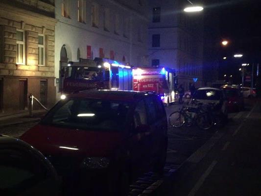 Die Feuerwehr löschte einen Brand in der Marxergasse.