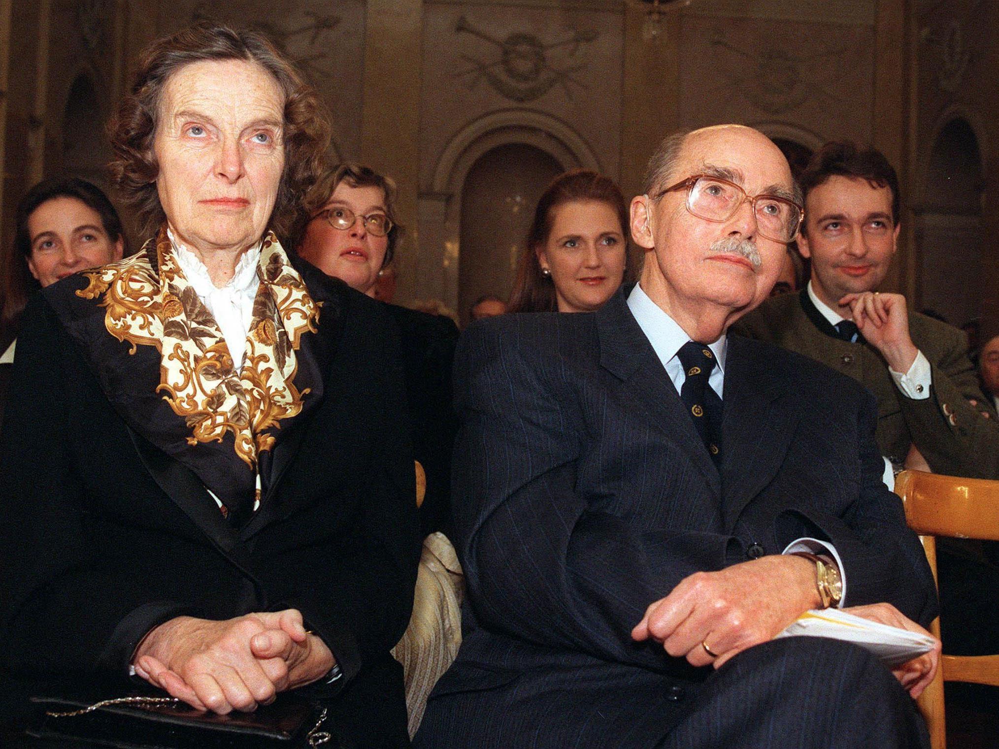 Eugena und Otto Habsburg 1997 zum 85. Geburtstag von Otto Habsburg in Wien
