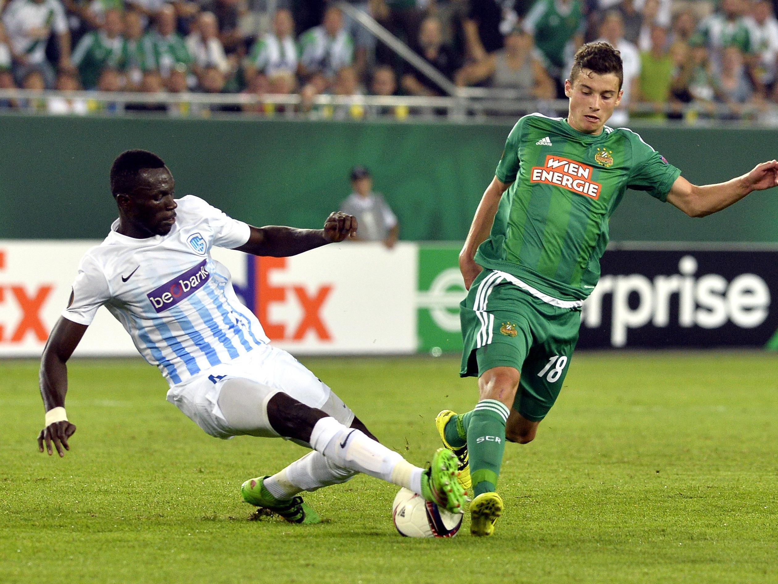 Im Hinspiel in Wien holte sich Rapid gegen Genk den Sieg.