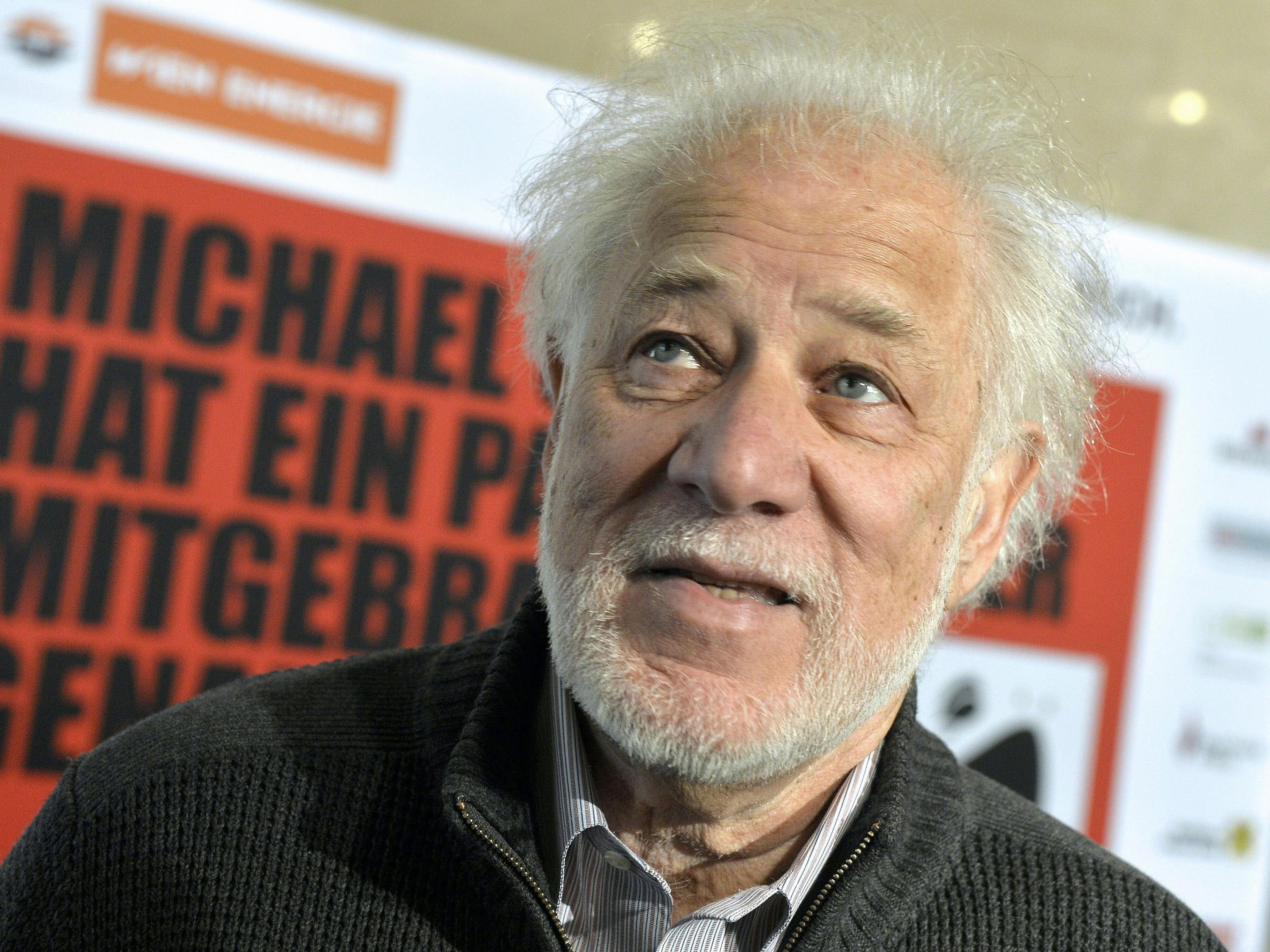 """Schriftsteller Michael Ondaatje bei der Eröffnung der Gratis-Buchaktion """"Eine STADT. Ein BUCH."""" in Wien"""