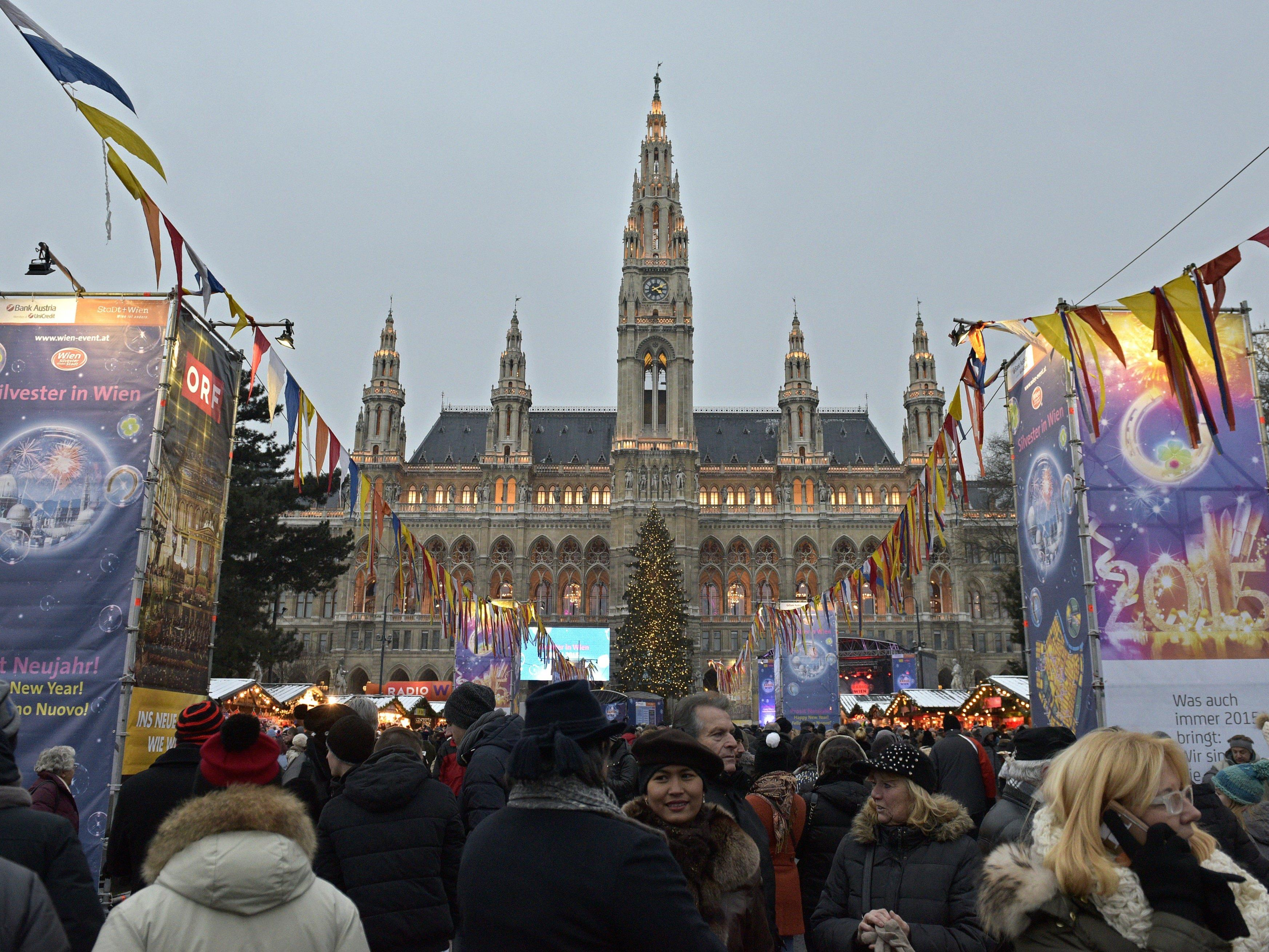 The New Year Celebrations in Vienna on 31 December 2016
