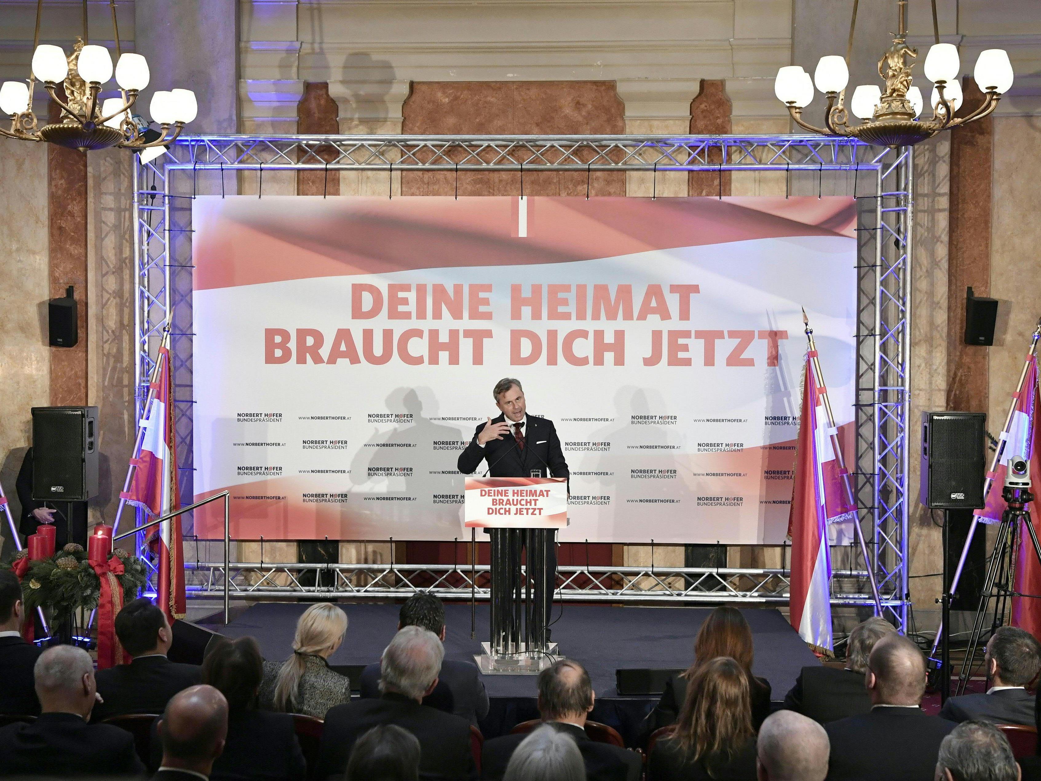 Norbert Hofers Wahlkampfabschluss vor der Bundespräsidentenwahl.