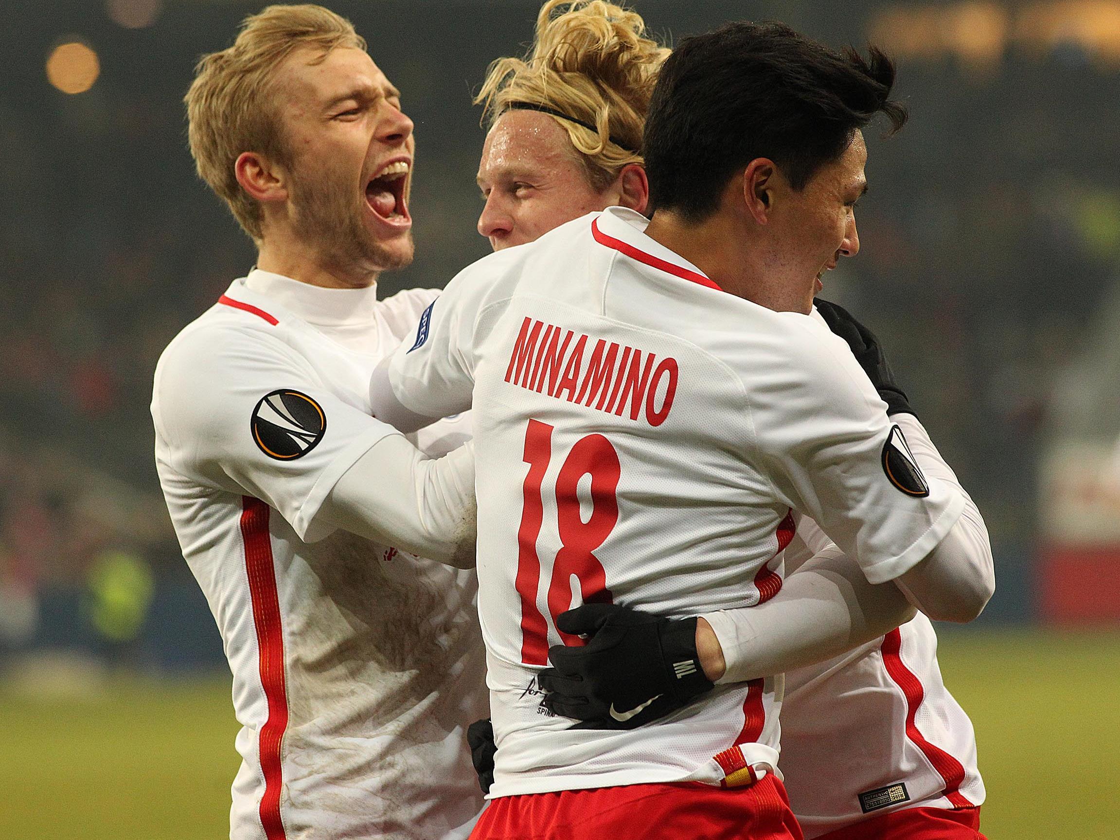 Red Bull Salzburg konnte sich in der EL mit 2:0 gegen Schalke 04 durchsetzen.