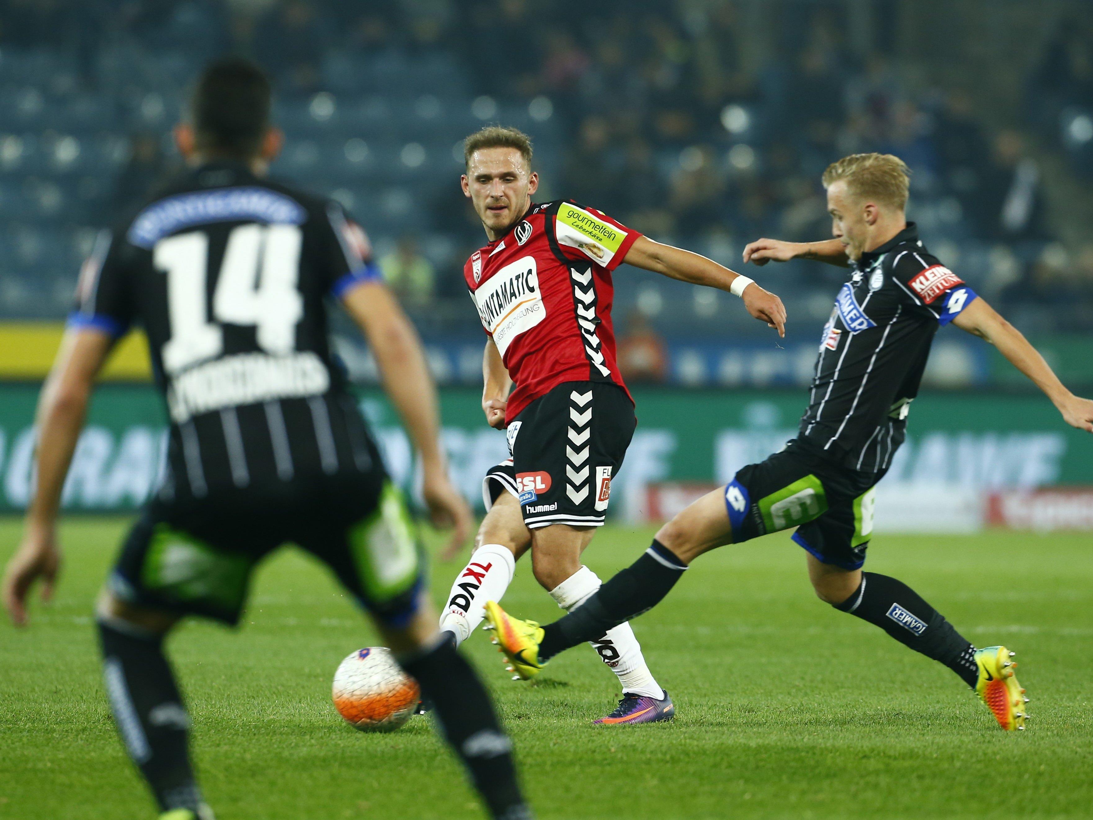 Wir berichten am Samstag ab 16.00 Uhr live vom Spiel SV Ried gegen SK Sturm Graz im Ticker.