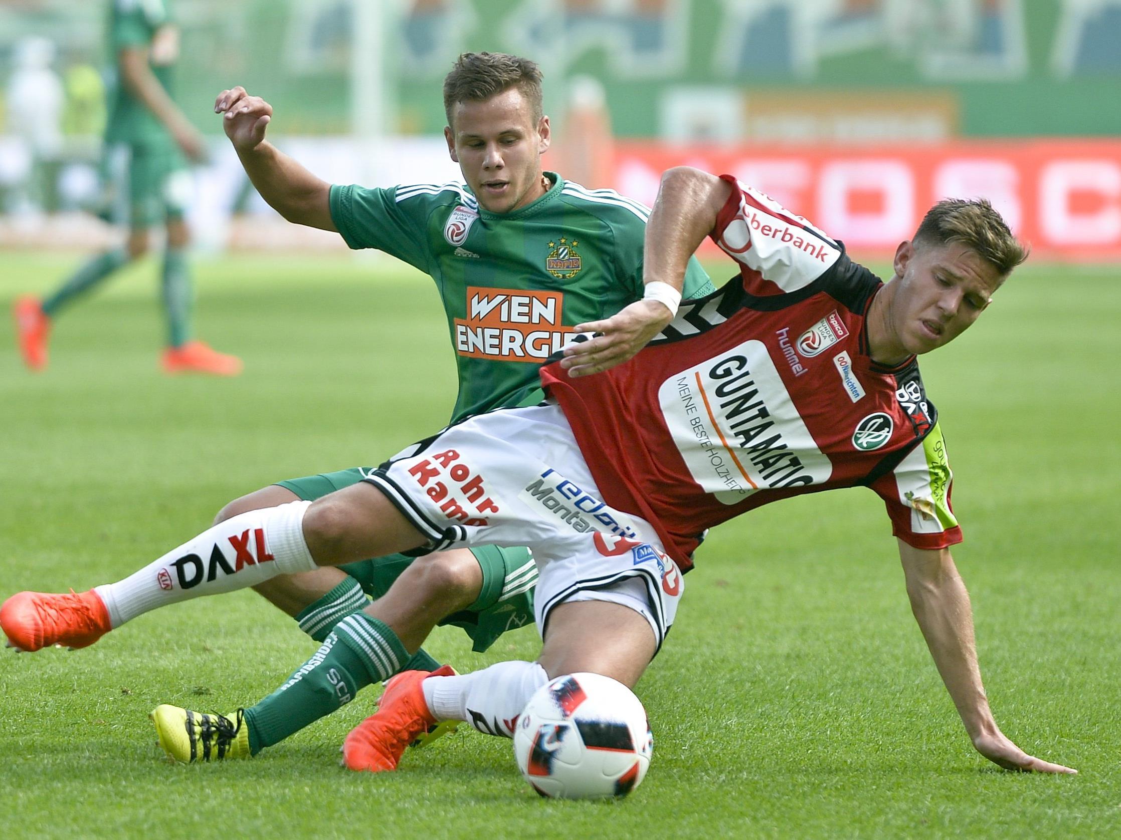 LIVE-Ticker zum Spiel SK Rapid Wien gegen SV Ried ab 14.00 Uhr.