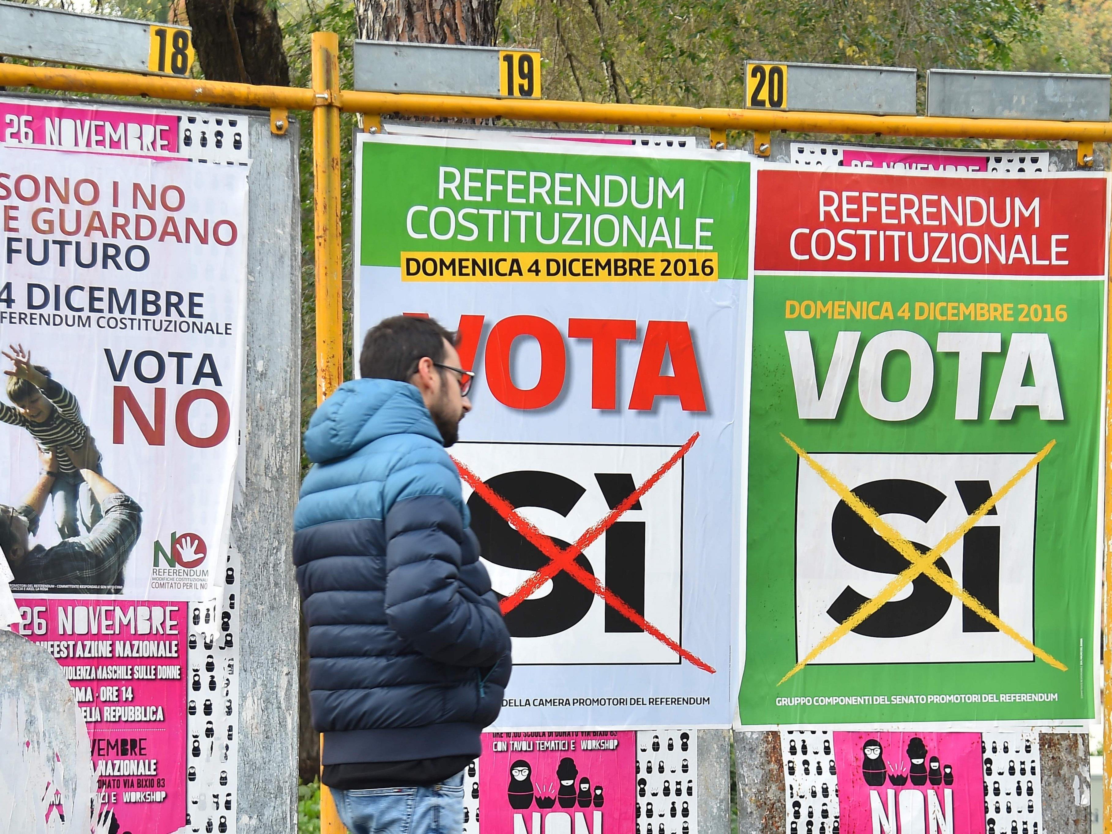 Am Sonntag wird nicht nur in Österreich gewählt, sondern auch in Italien.