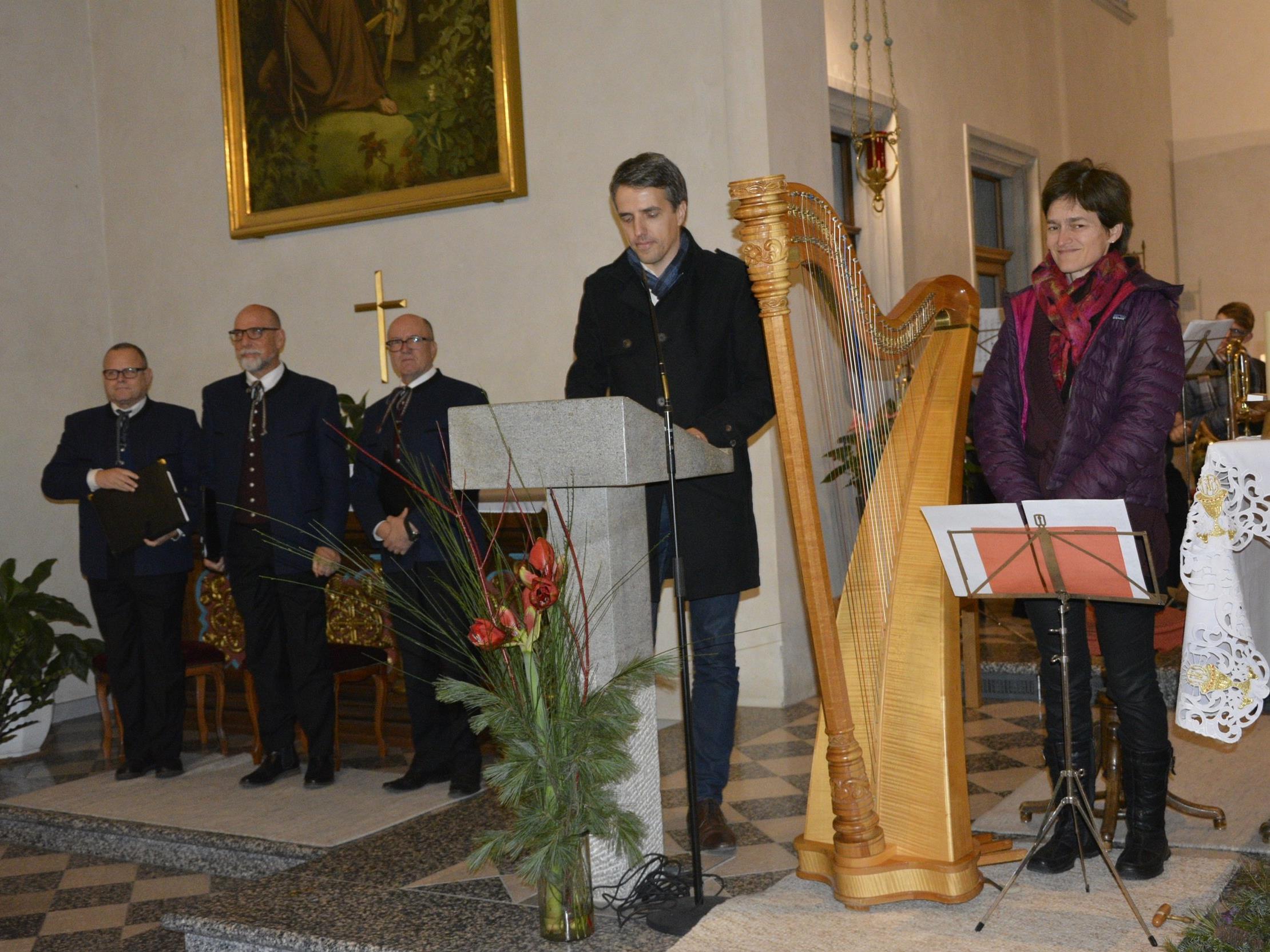 Begrüßungsauftakt durch Daniel Mutschlechner (Präsident der Rotary's Dornbirn).
