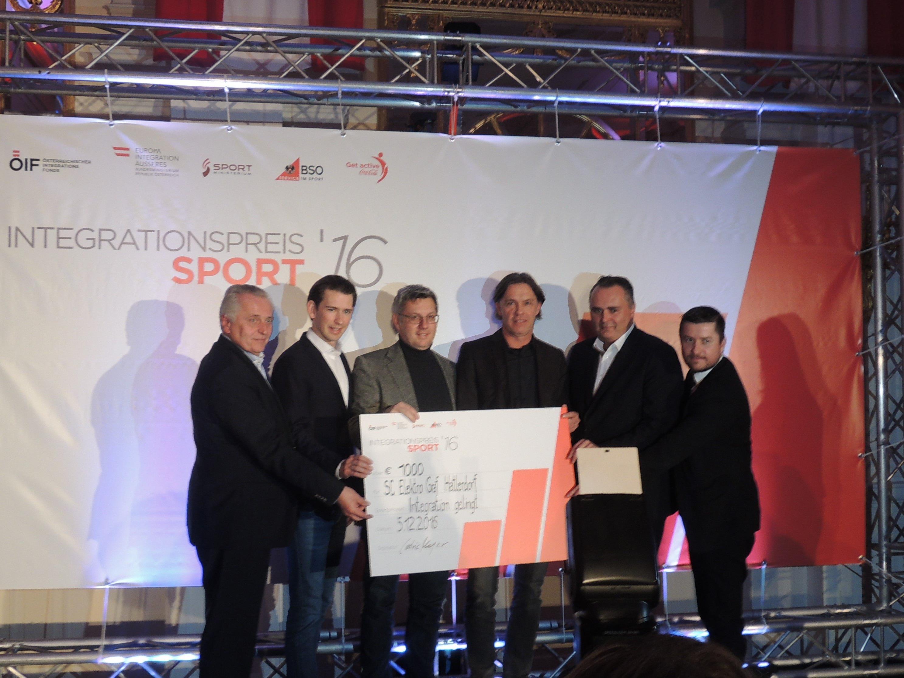 SC Hatlerdorf erhielt den Integrationspreis 2016