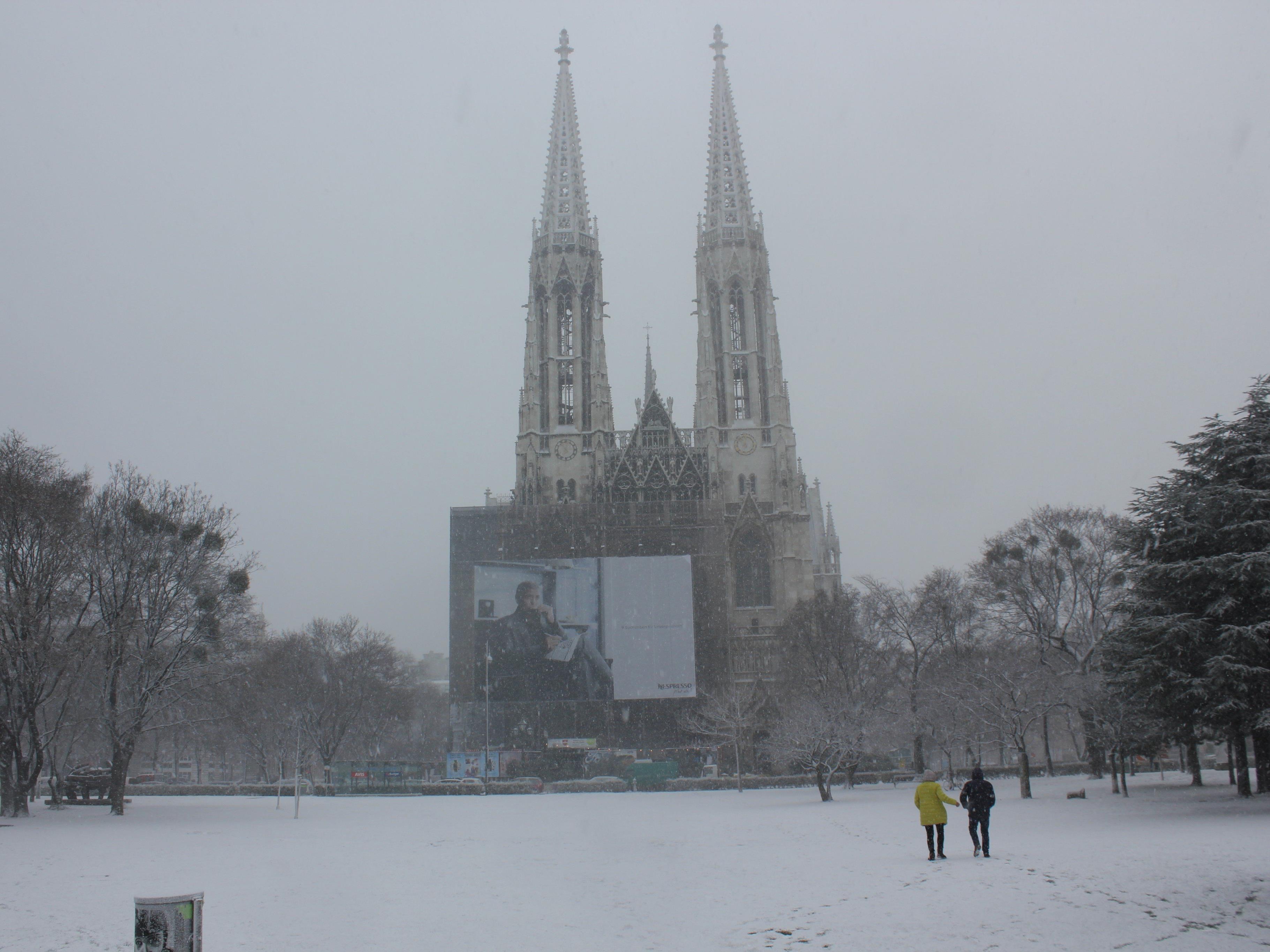 So verschneit war es am Dienstag in Wien - wie es wohl am Samstag aussieht?