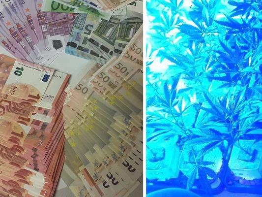 In einem Simmeringer Haus wurden Drogen, Waffen und eine große Summe Bargeld sichergestellt