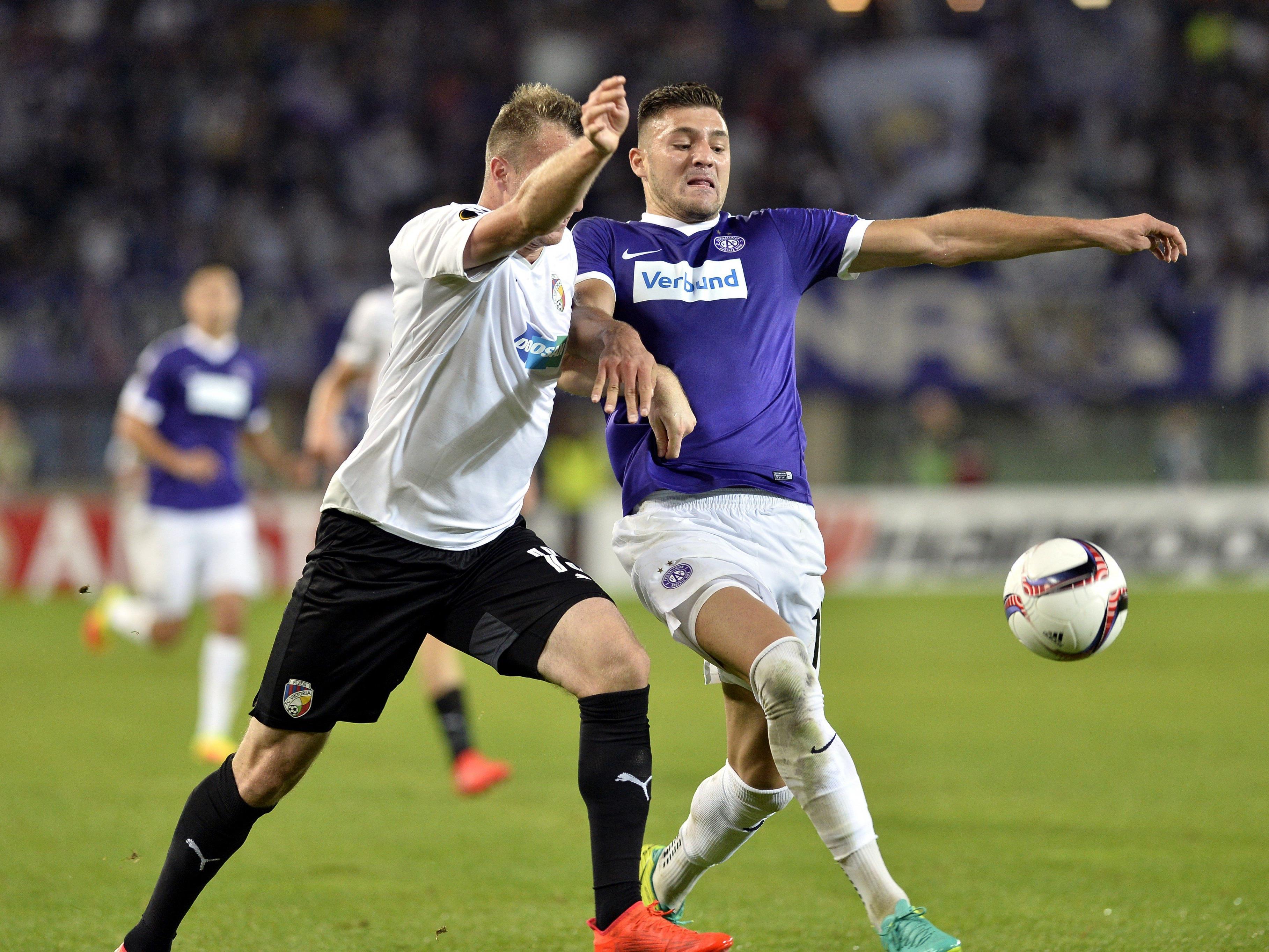 Die Austria kämpft bei Viktoria Pilsen um den Aufstieg in die K.o.-Runde der Europa League.