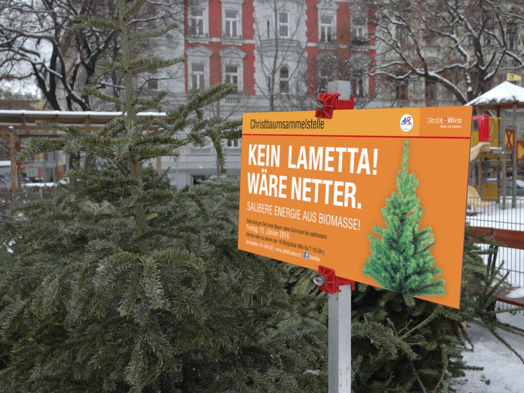 Ab dem 27. Dezember öffnen in Wien die Christbaumsammelstellen.