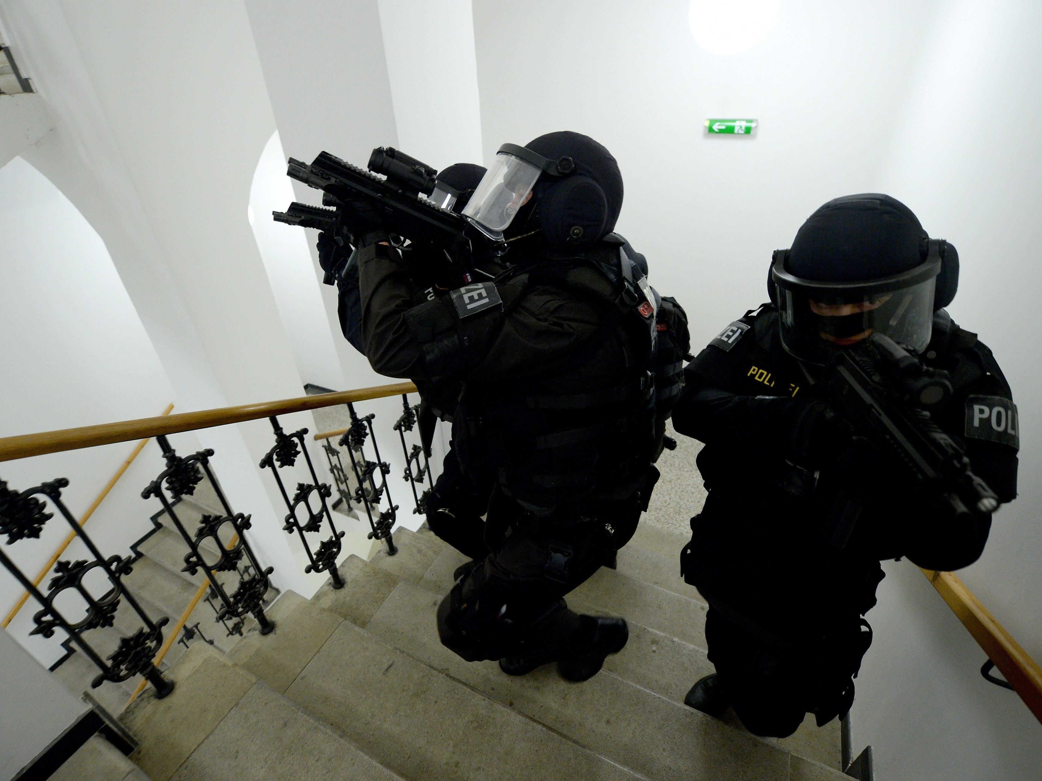 Polizisten der Sondereinheiten Cobra und WEGA waren im Einsatz