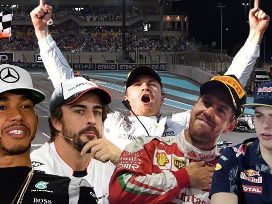 """Nach dem System des Blogs """"F1Metrics"""" haben Alonso, Verstappen und Vettel in der abgelaufenen Saison bessere Leistungen als die beiden Mercedes-Piloten gezeigt."""