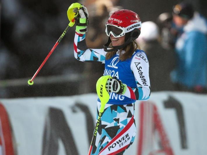 Erstmals WC Punkte im Slalom für Katharina Liensberger
