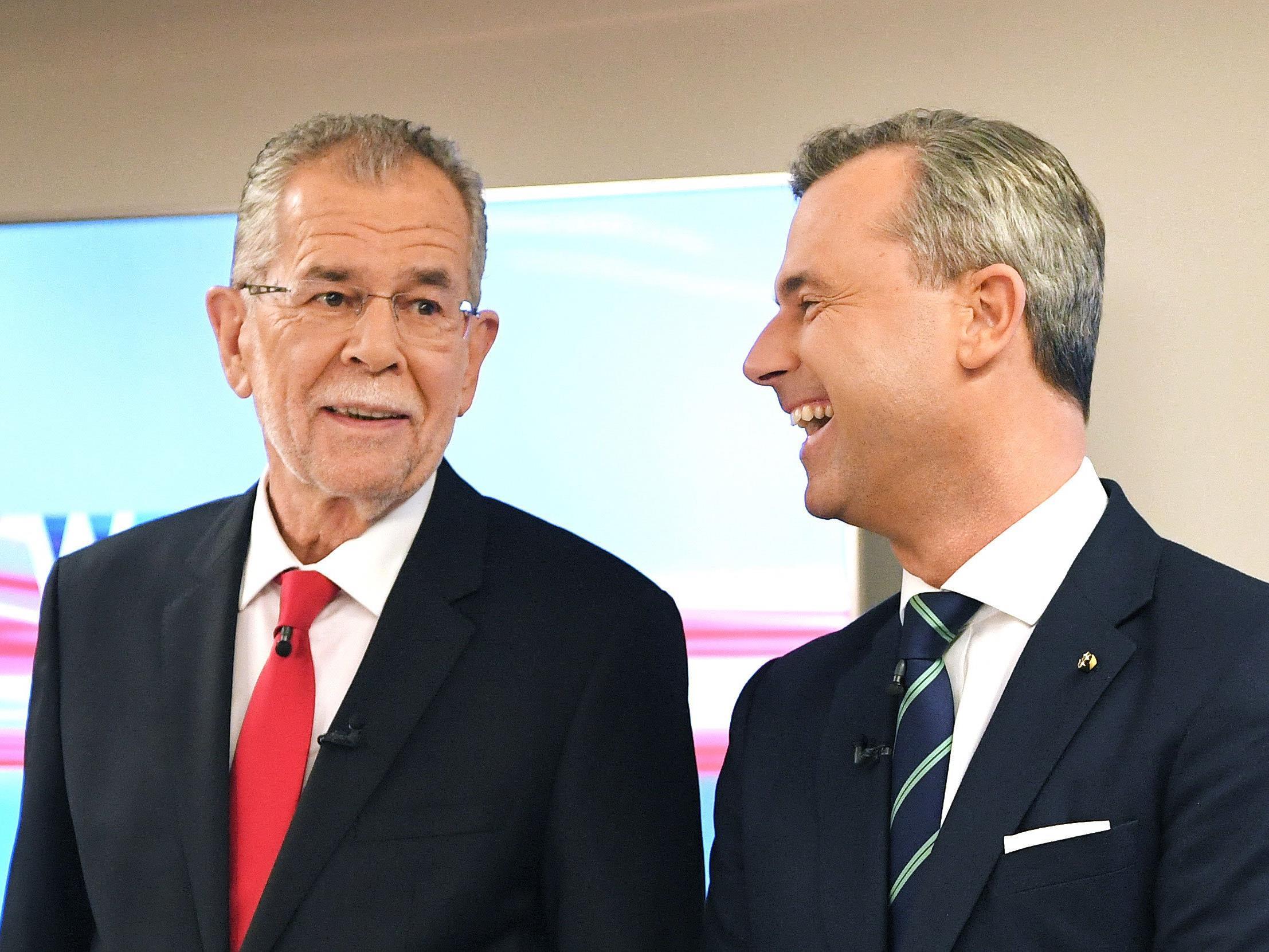 Die Bundespräsidentschaftskandidaten Alexander Van der Bellen (l.) und Norbert Hofer
