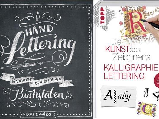 Wer Handlettering bzw. Kalligraphie erlernen möchte, ist bei diesen beiden Büchern aus dem frech verlag richtig