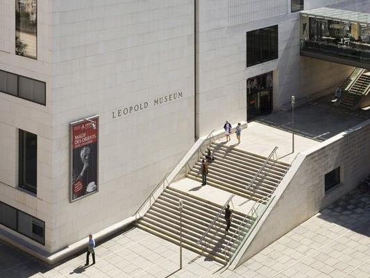 Der Dachausbau auf dem Leopold Museum soll erst ab 2019 kommen.