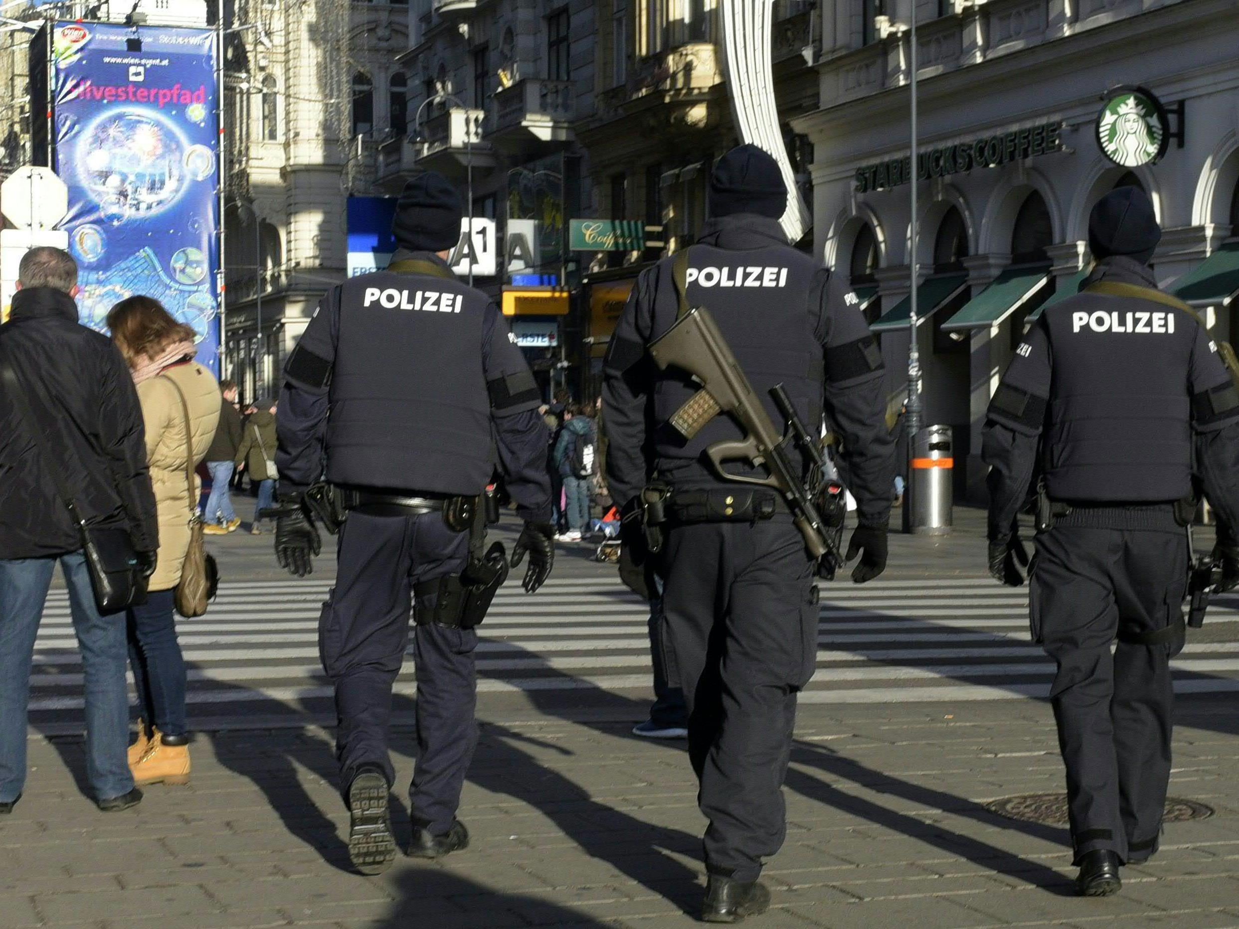 Am traditionellen Silvesterpfad in der Wiener Innenstadt wird auch die Exekutive wieder vielfach im Einsatz sein
