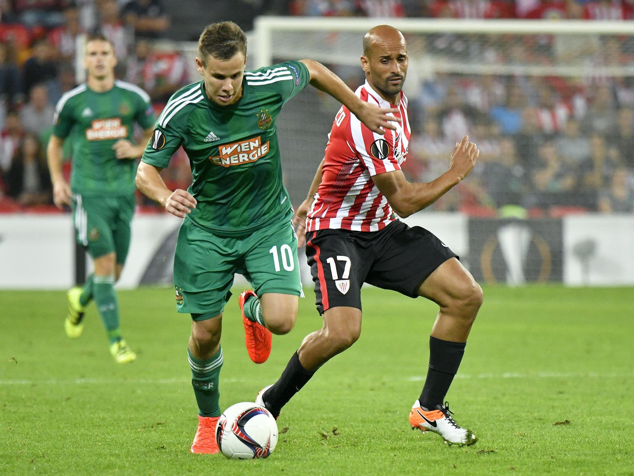 Rapid empfängt Athletic Bilbao im Allianz-Stadion.
