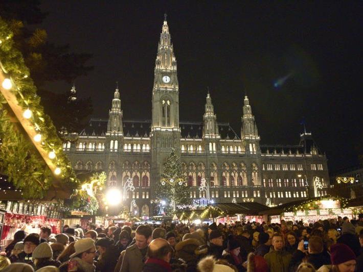 Der Weihnachtstraum am Wiener Rathausplatz.